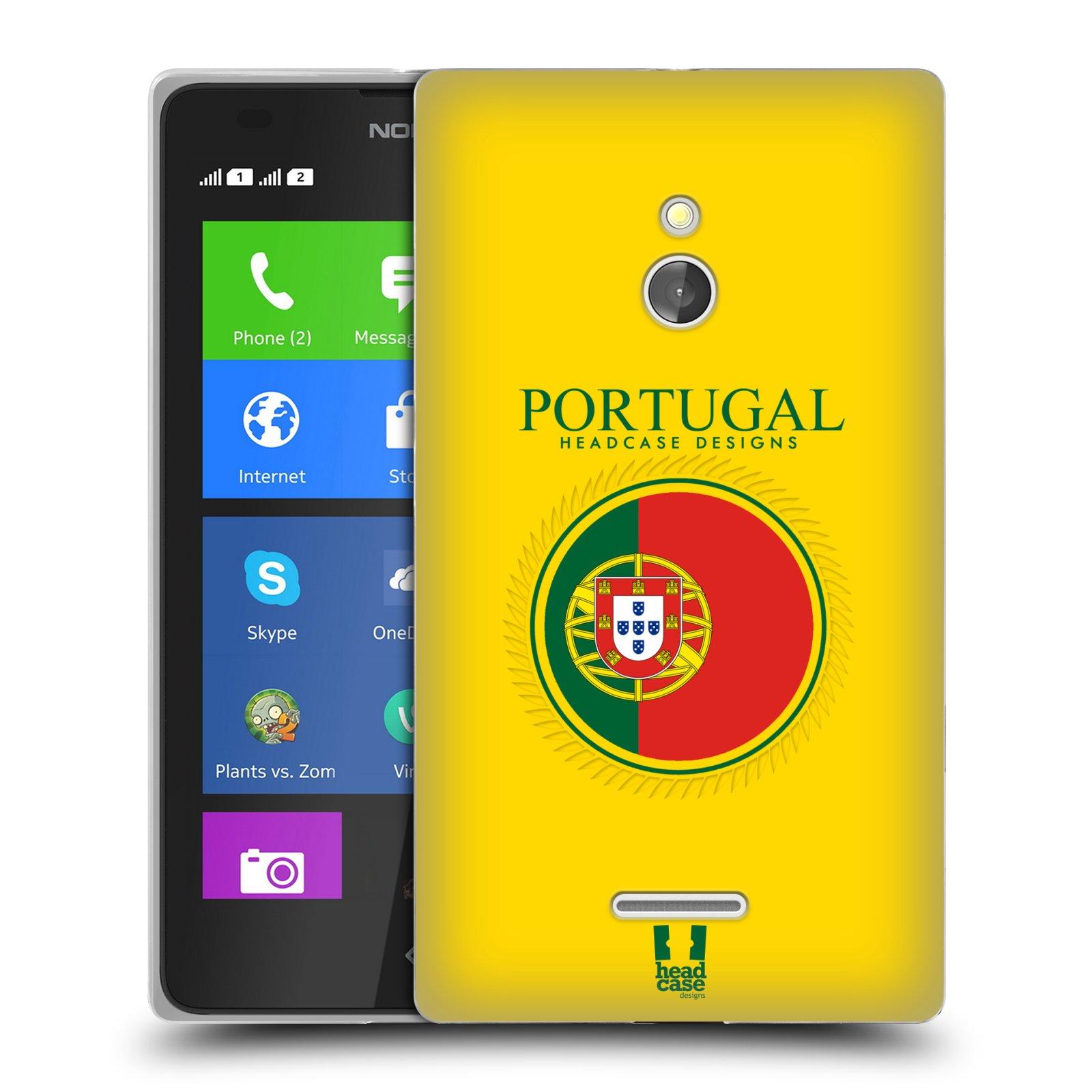 HEAD CASE silikonový obal na mobil NOKIA XL / NOKIA XL DUAL SIM vzor Vlajky státy 2 PORTUGALSKO