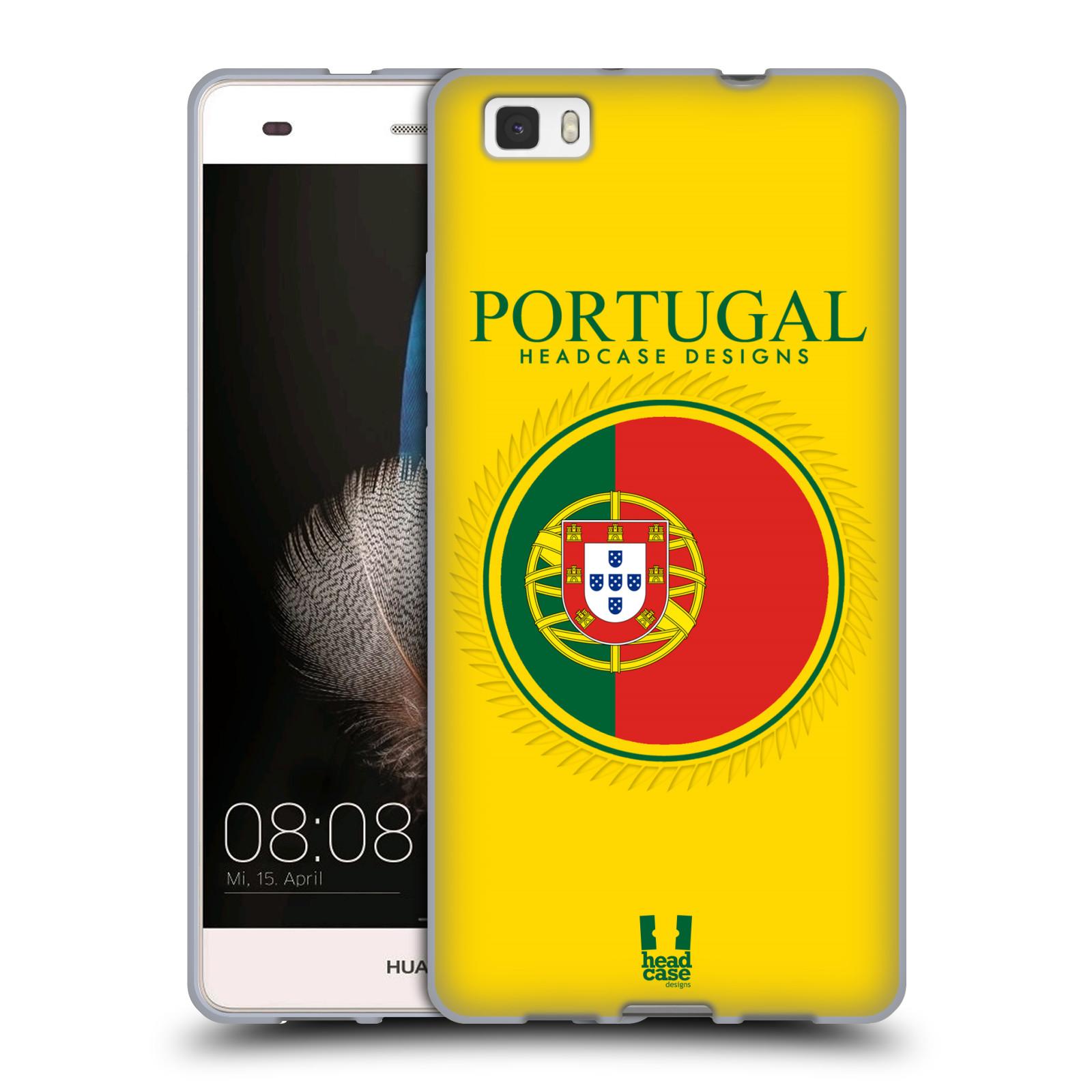HEAD CASE silikonový obal na mobil HUAWEI P8 LITE vzor Vlajky státy 2 PORTUGALSKO