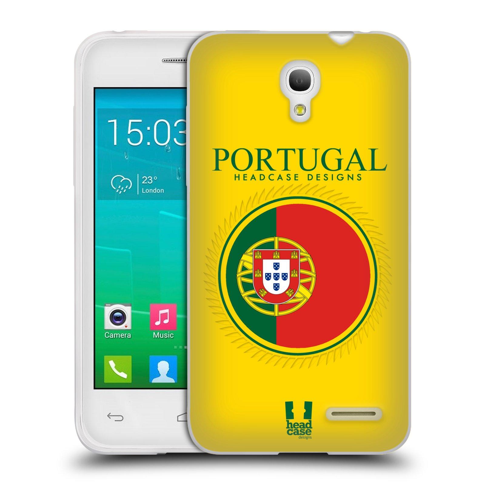 HEAD CASE silikonový obal na mobil Alcatel POP S3 OT-5050Y vzor Vlajky státy 2 PORTUGALSKO