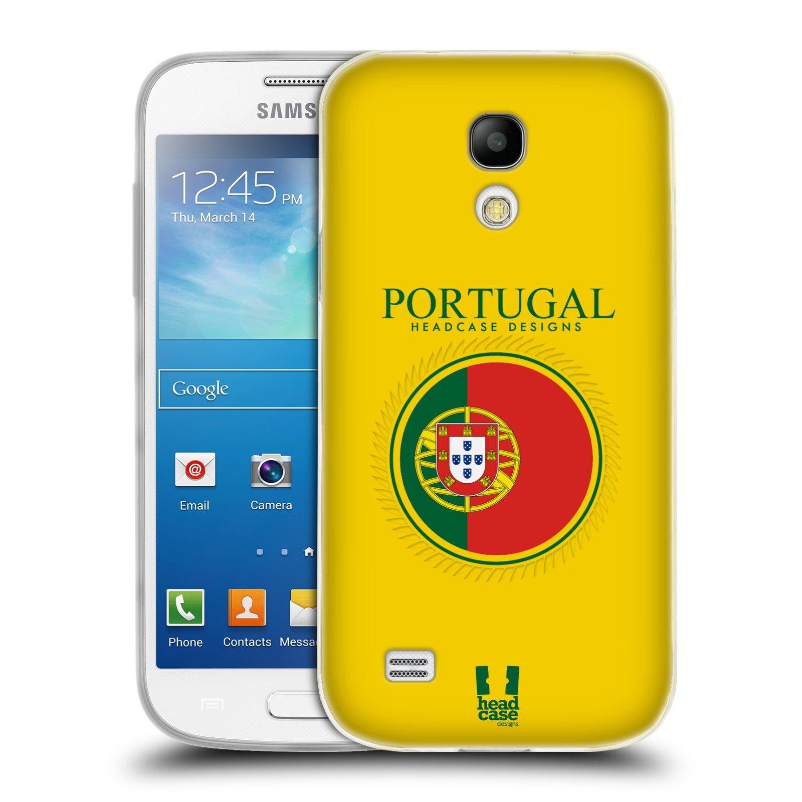 HEAD CASE silikonový obal na mobil Samsung Galaxy S4 MINI vzor Vlajky státy 2 PORTUGALSKO