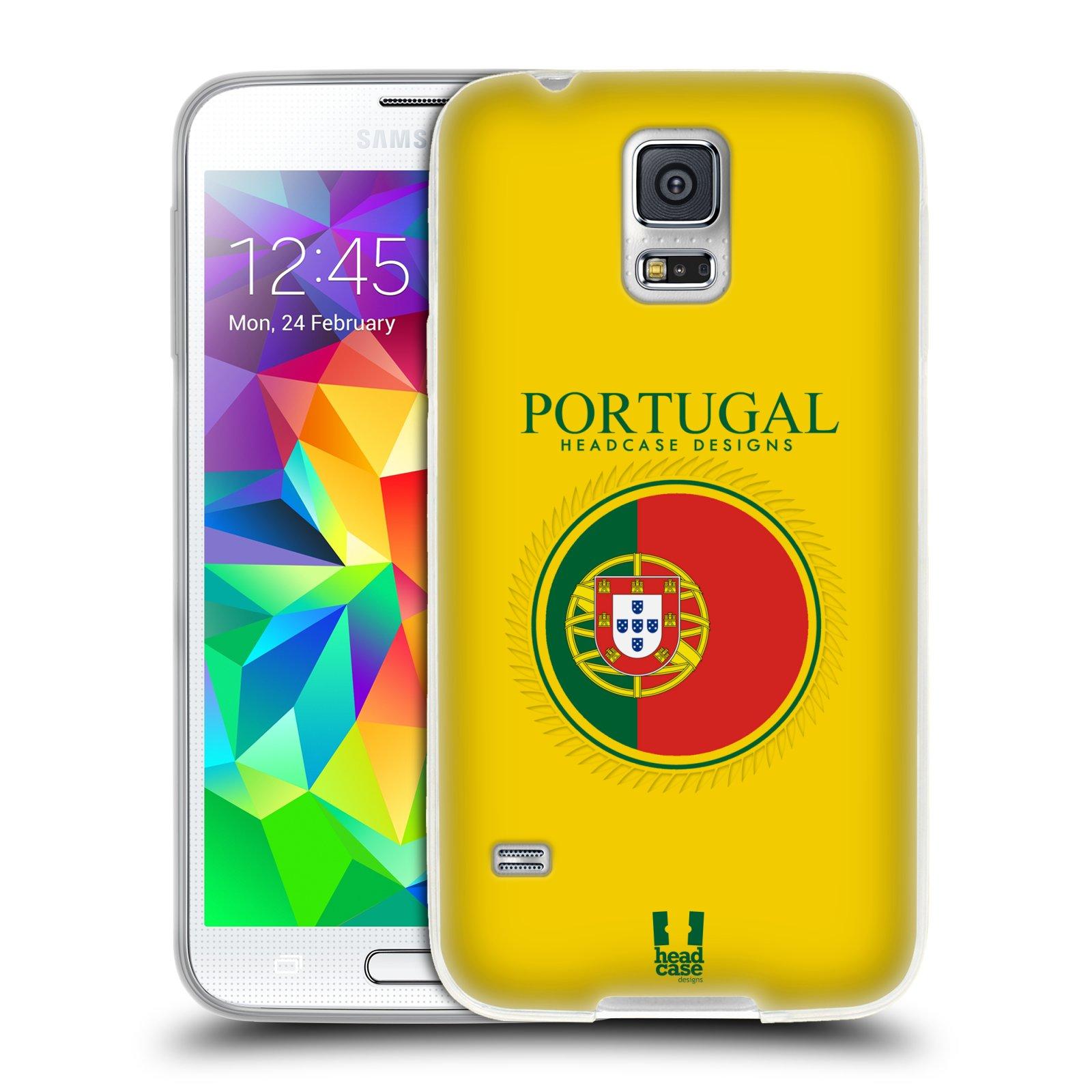 HEAD CASE silikonový obal na mobil Samsung Galaxy S5/S5 NEO vzor Vlajky státy 2 PORTUGALSKO