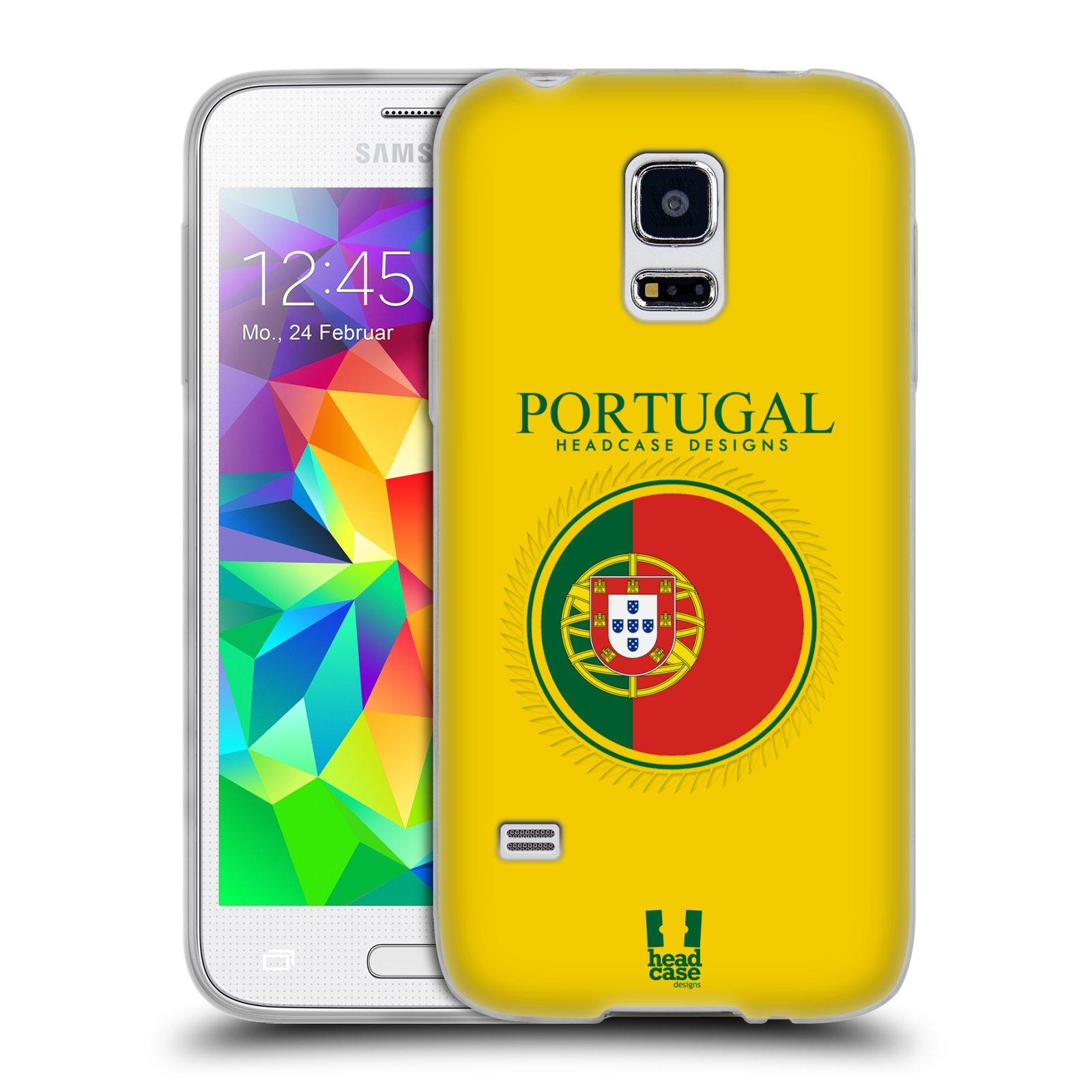 HEAD CASE silikonový obal na mobil Samsung Galaxy S5 MINI vzor Vlajky státy 2 PORTUGALSKO