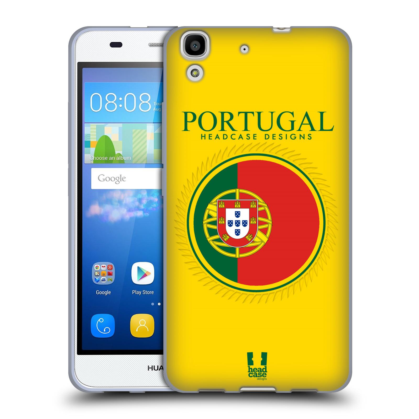 HEAD CASE silikonový obal na mobil HUAWEI Y6 vzor Vlajky státy 2 PORTUGALSKO