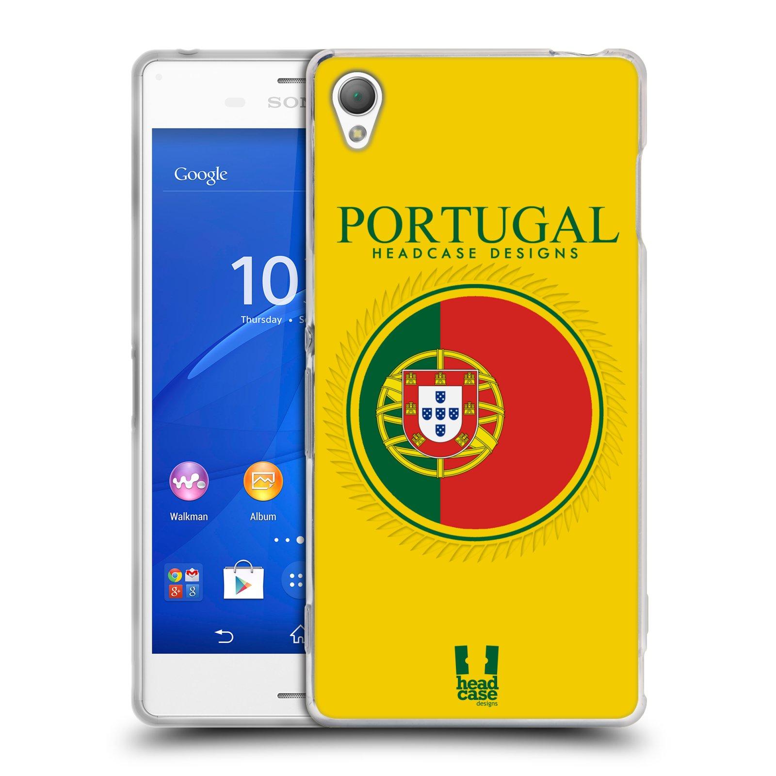 HEAD CASE silikonový obal na mobil Sony Xperia Z3 vzor Vlajky státy 2 PORTUGALSKO