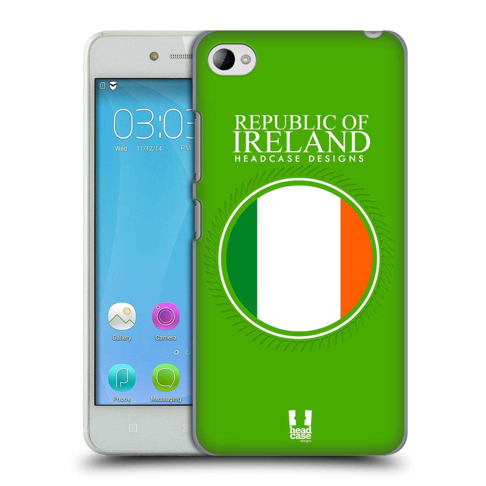 HEAD CASE pevný plastový obal na mobil LENOVO S90 vzor Vlajky státy 2 IRSKO
