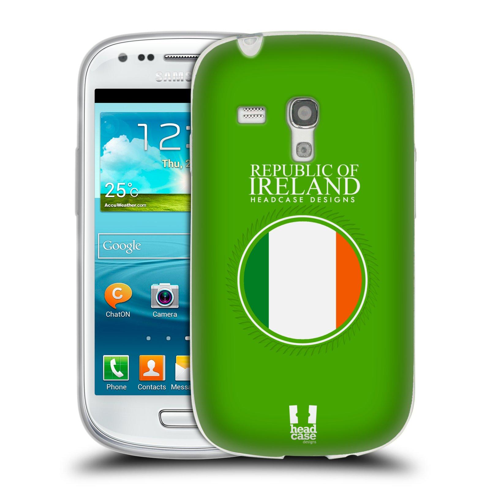 HEAD CASE silikonový obal na mobil Samsung Galaxy S3 MINI i8190 vzor Vlajky státy 2 IRSKO