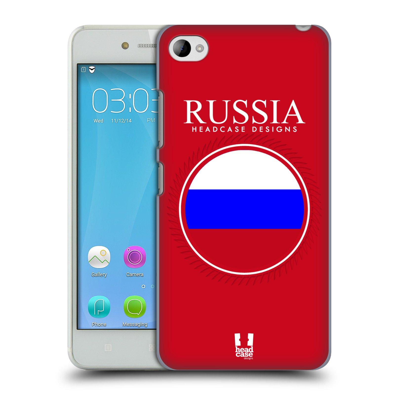 HEAD CASE pevný plastový obal na mobil LENOVO S90 vzor Vlajky státy 2 RUSKO
