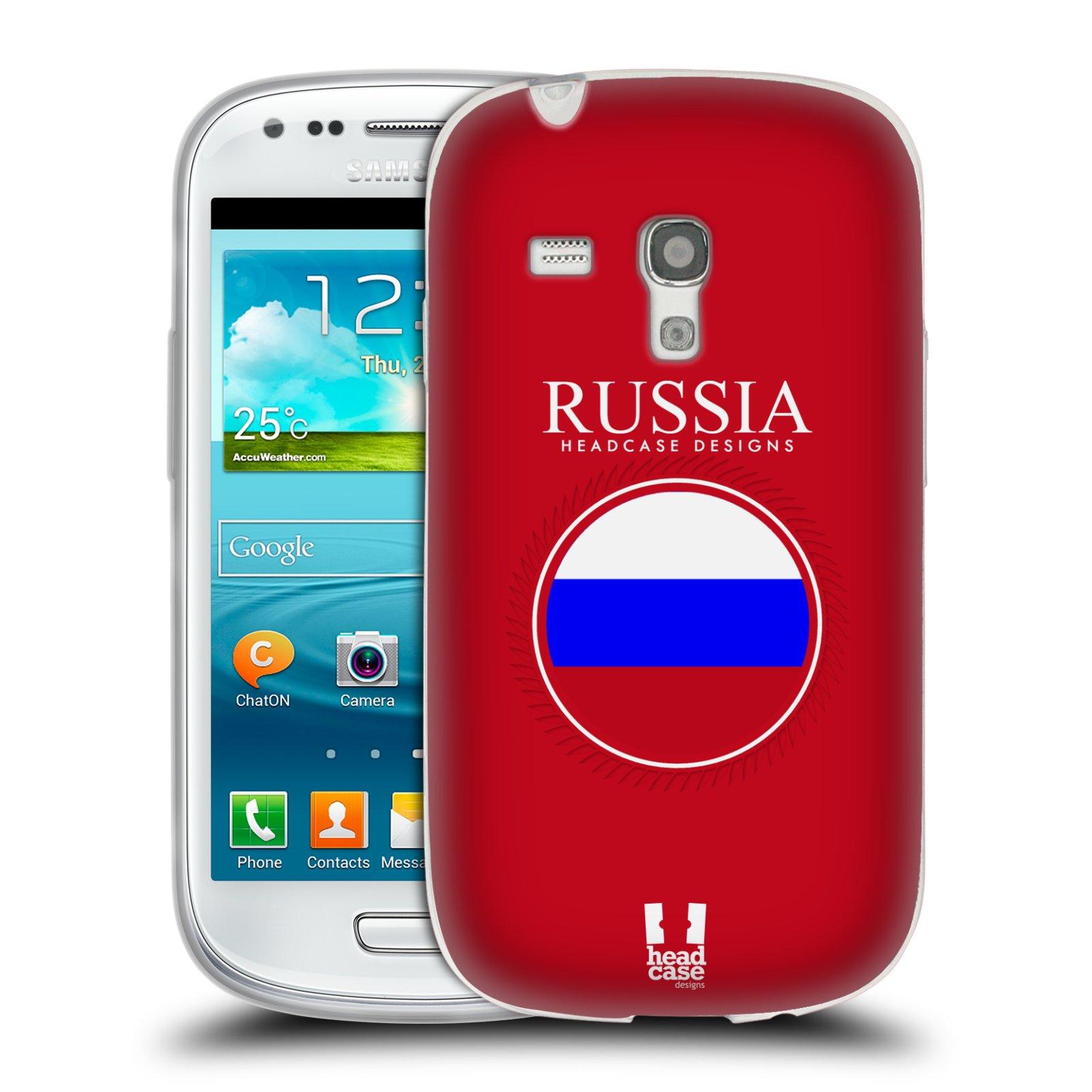 HEAD CASE silikonový obal na mobil Samsung Galaxy S3 MINI i8190 vzor Vlajky státy 2 RUSKO