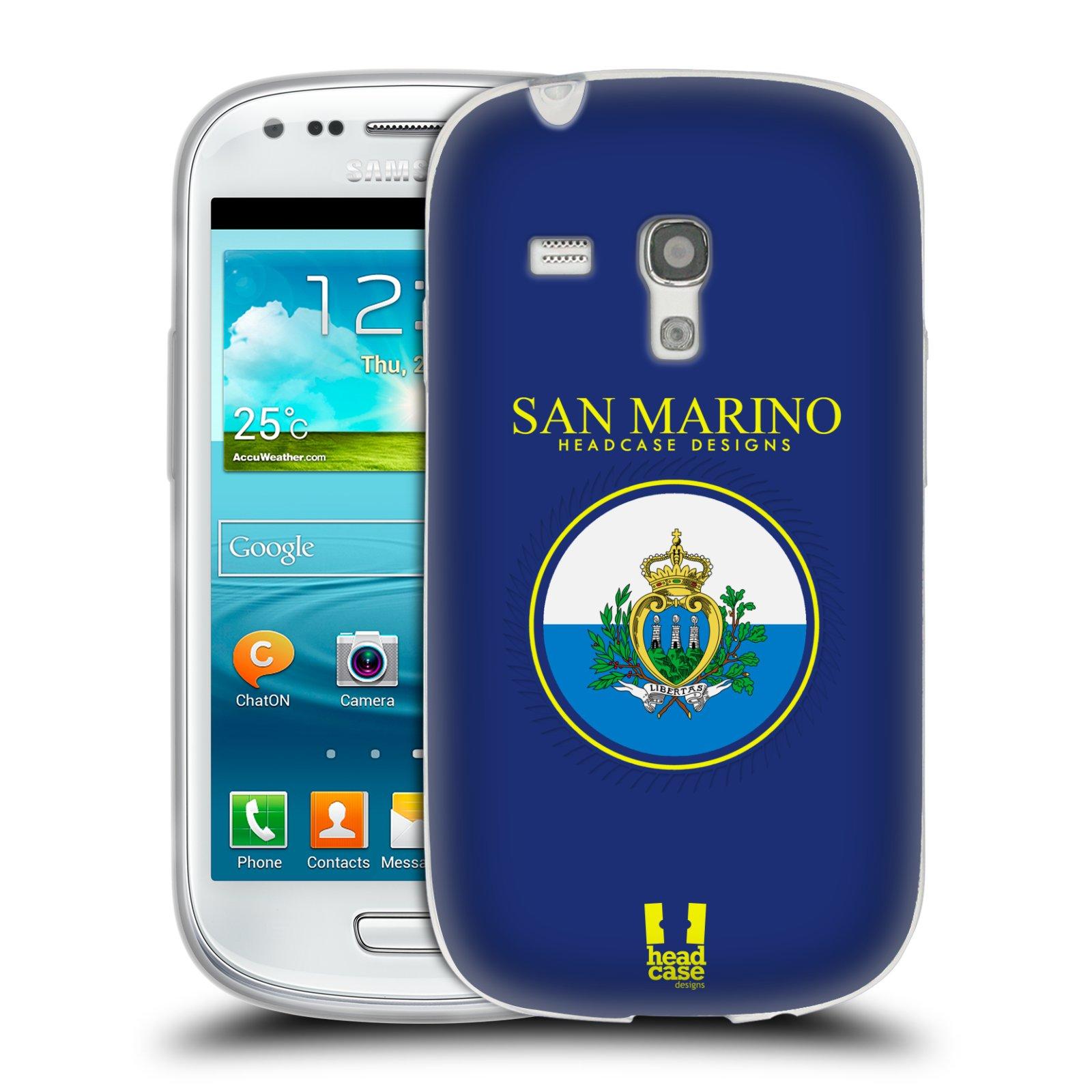 HEAD CASE silikonový obal na mobil Samsung Galaxy S3 MINI i8190 vzor Vlajky státy 2 SAN MARINO