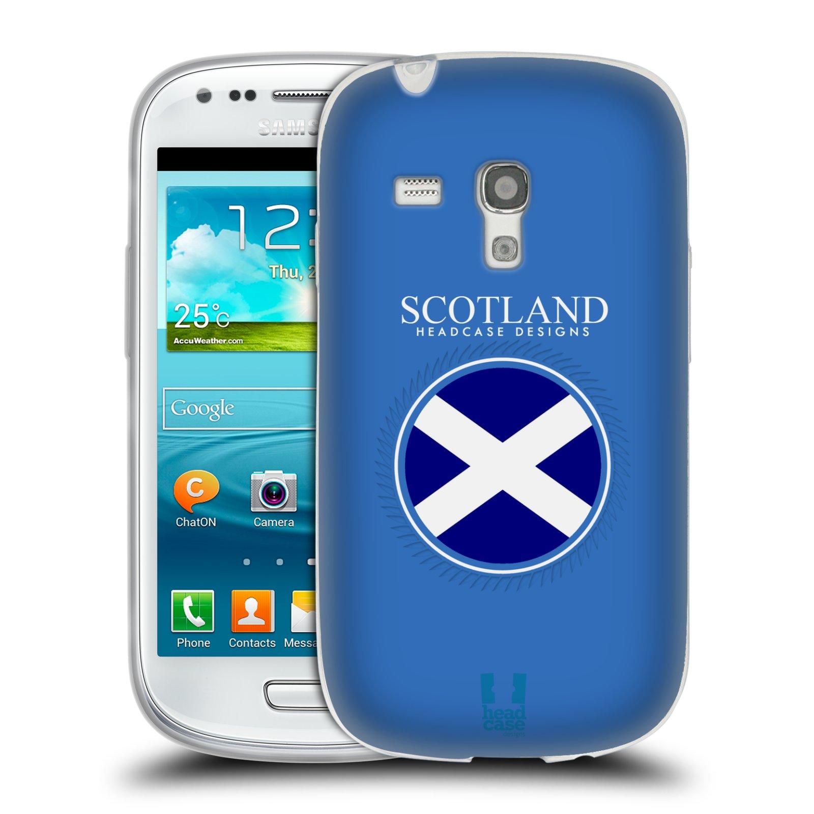 HEAD CASE silikonový obal na mobil Samsung Galaxy S3 MINI i8190 vzor Vlajky státy 2 SKOTSKO