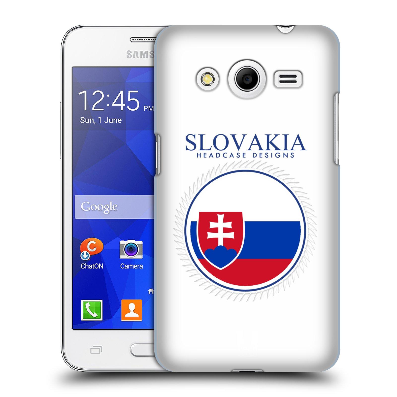 HEAD CASE plastový obal na mobil SAMSUNG GALAXY Core 2 (G355H) vzor Vlajky státy 2 SLOVENSKO