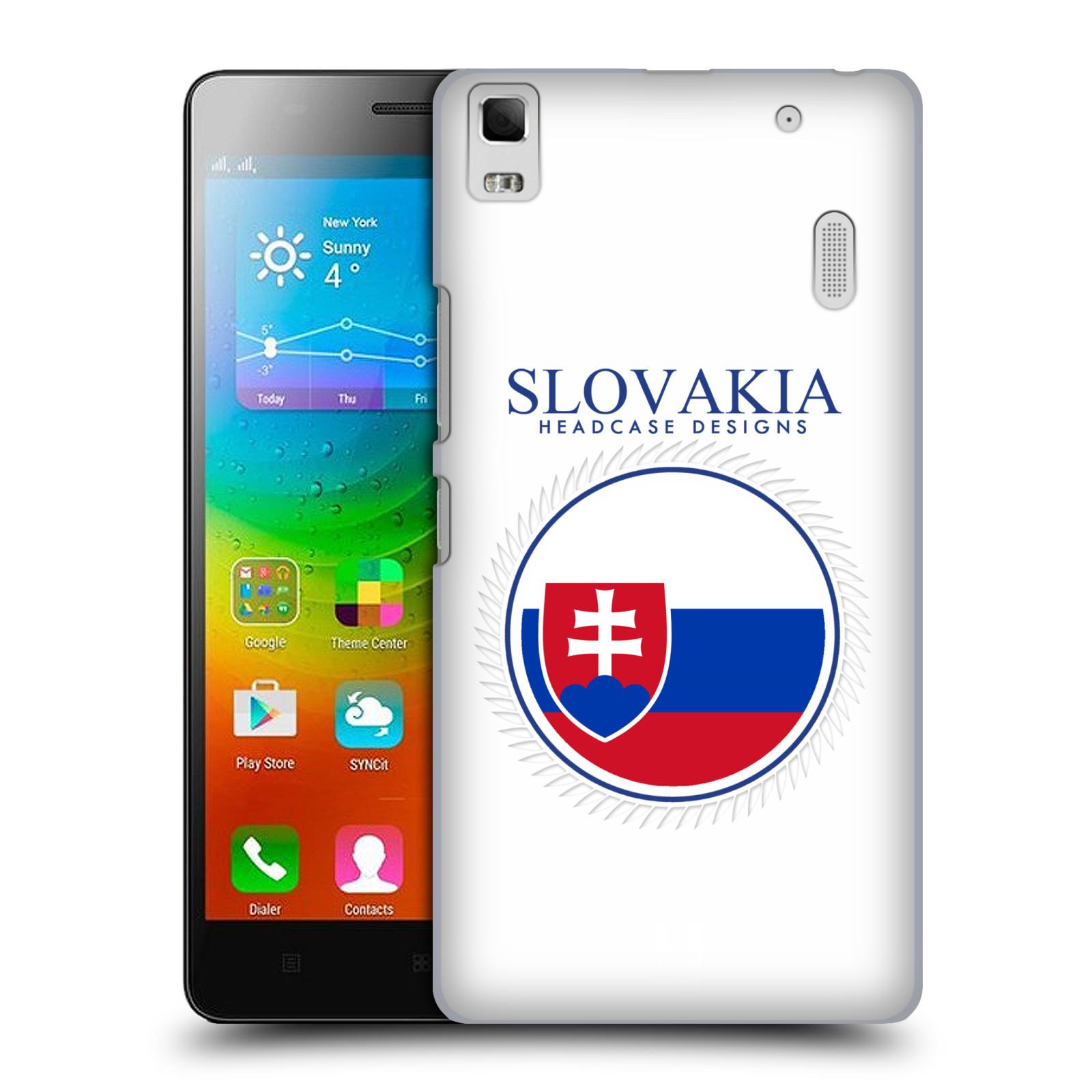 HEAD CASE pevný plastový obal na mobil LENOVO A7000 / A7000 DUAL / K3 NOTE vzor Vlajky státy 2 SLOVENSKO