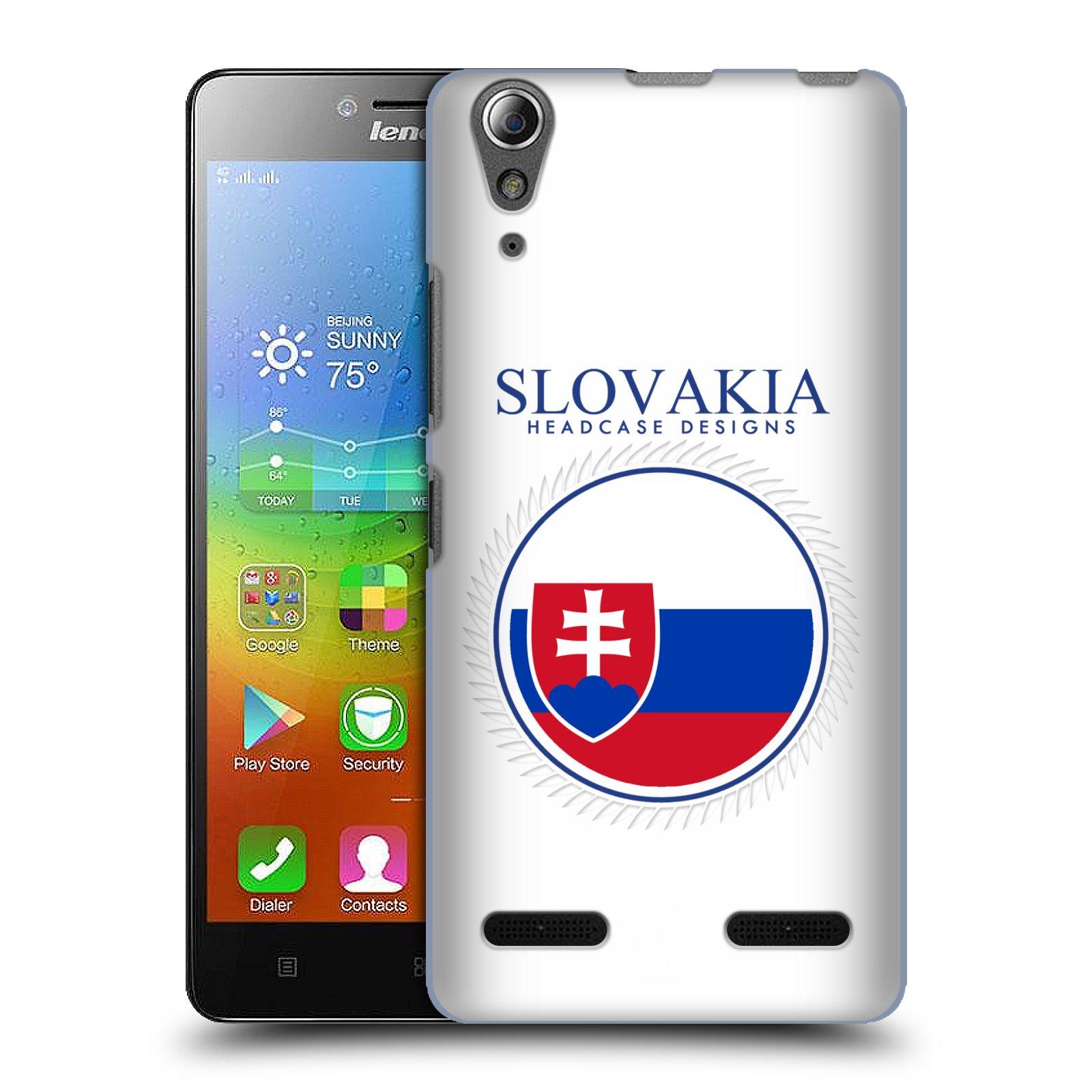 HEAD CASE pevný plastový obal na mobil LENOVO A6000 / A6000 PLUS vzor Vlajky státy 2 SLOVENSKO