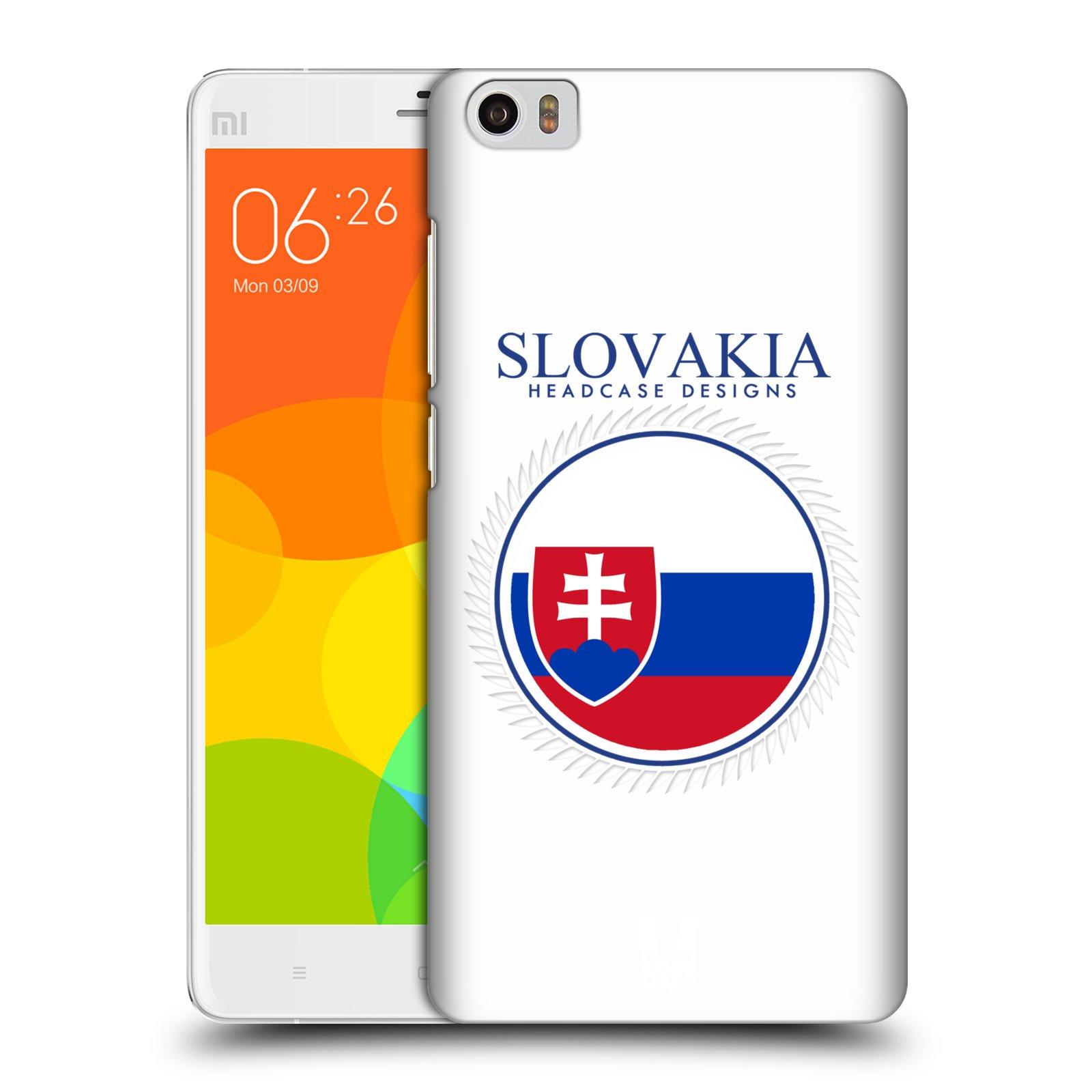 HEAD CASE pevný plastový obal na mobil XIAOMI Mi Note vzor Vlajky státy 2 SLOVENSKO