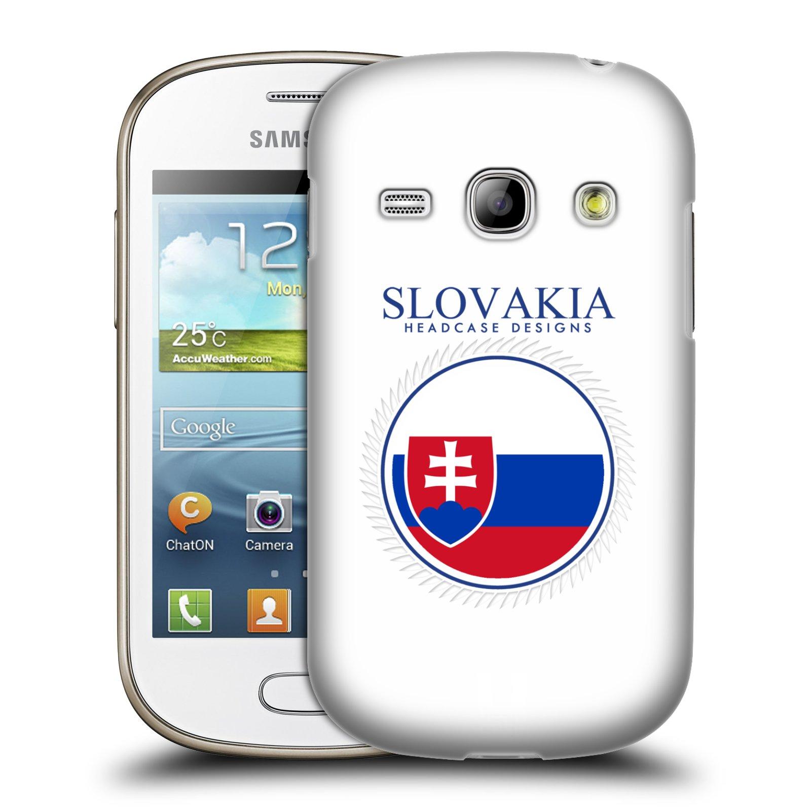 HEAD CASE plastový obal na mobil SAMSUNG GALAXY FAME (S6810) vzor Vlajky státy 2 SLOVENSKO