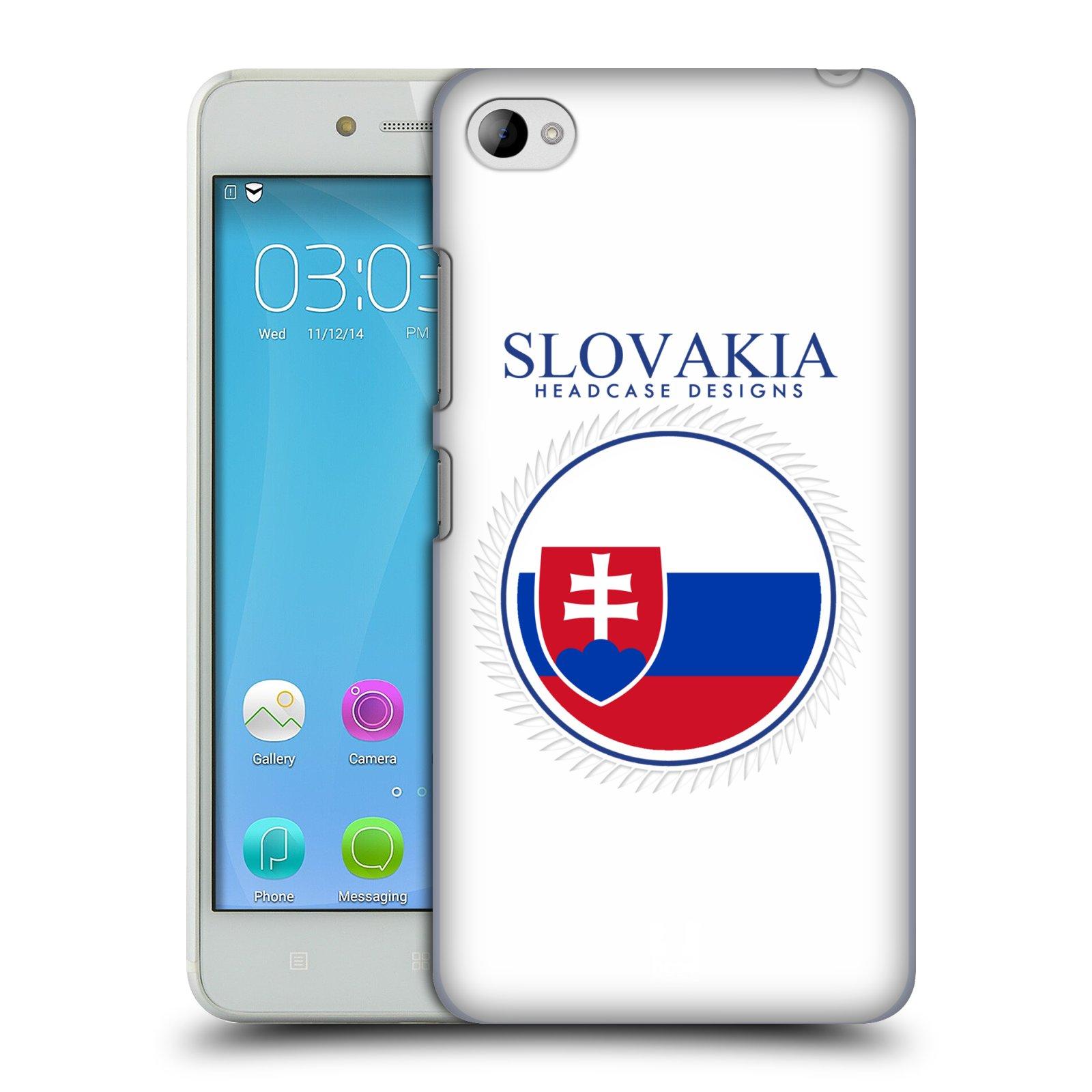 HEAD CASE pevný plastový obal na mobil LENOVO S90 vzor Vlajky státy 2 SLOVENSKO