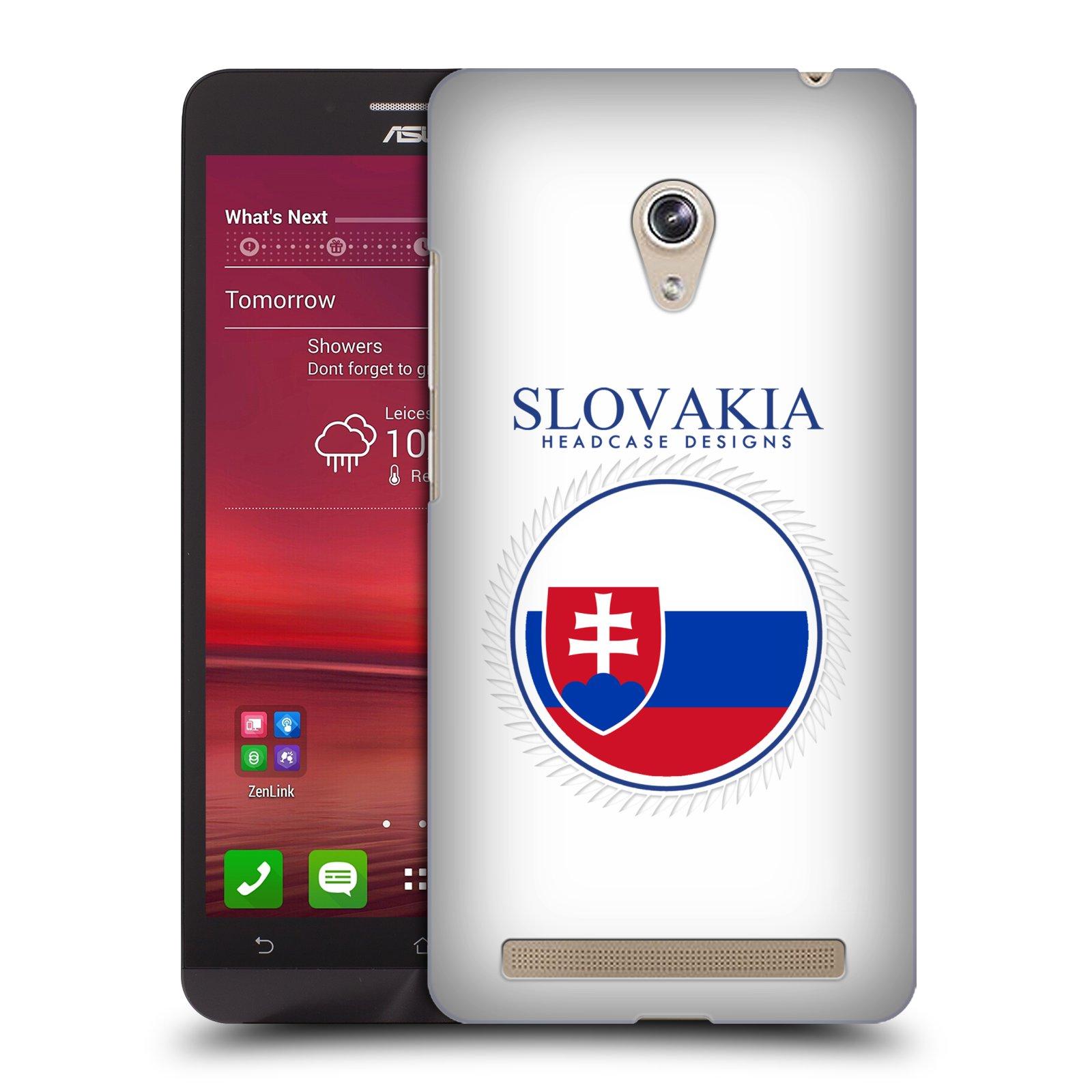 HEAD CASE plastový obal na mobil Asus Zenfone 6 vzor Vlajky státy 2 SLOVENSKO