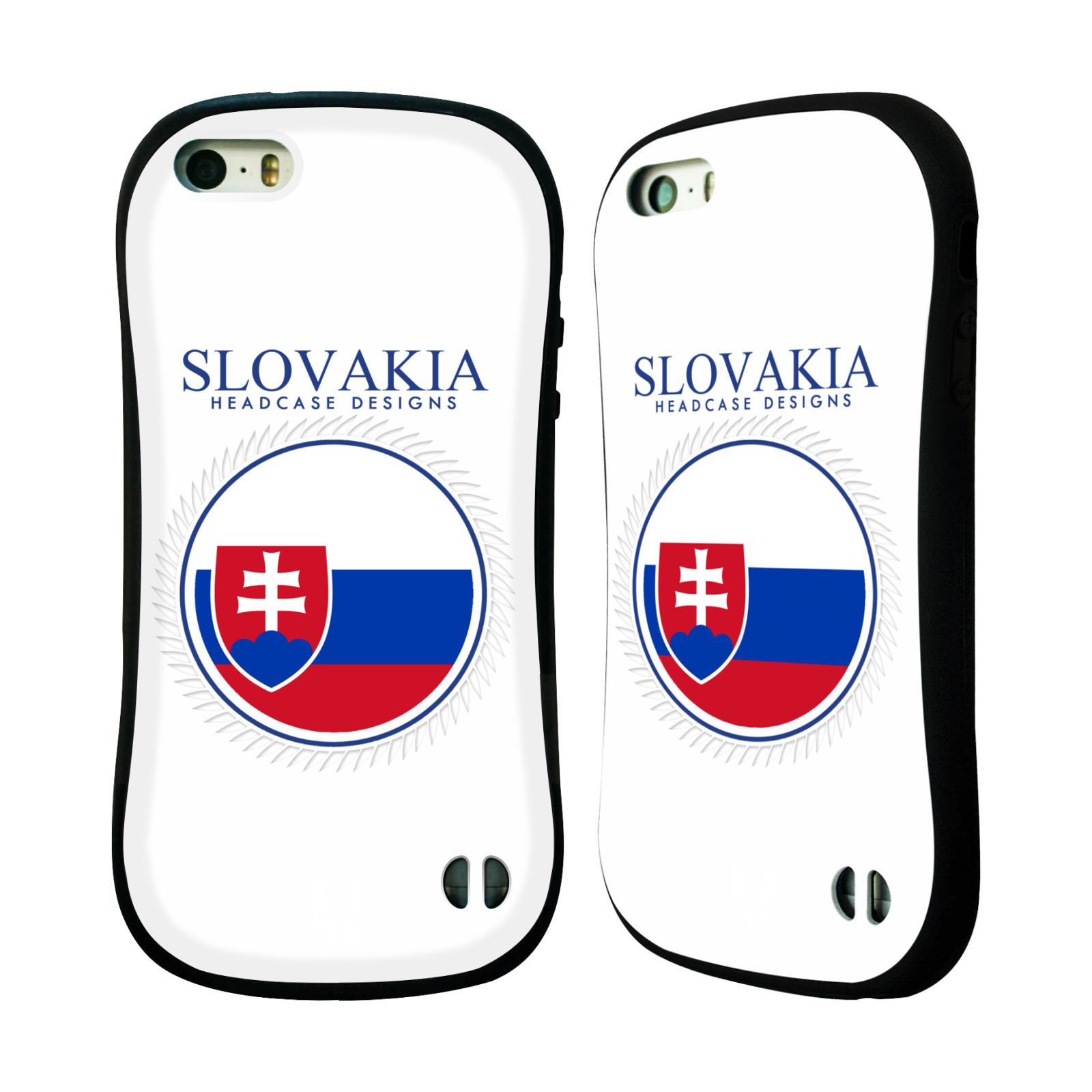 HEAD CASE silikon/plast odolný obal na mobil Apple Iphone 5/5S vzor Vlajky státy 2 SLOVENSKO