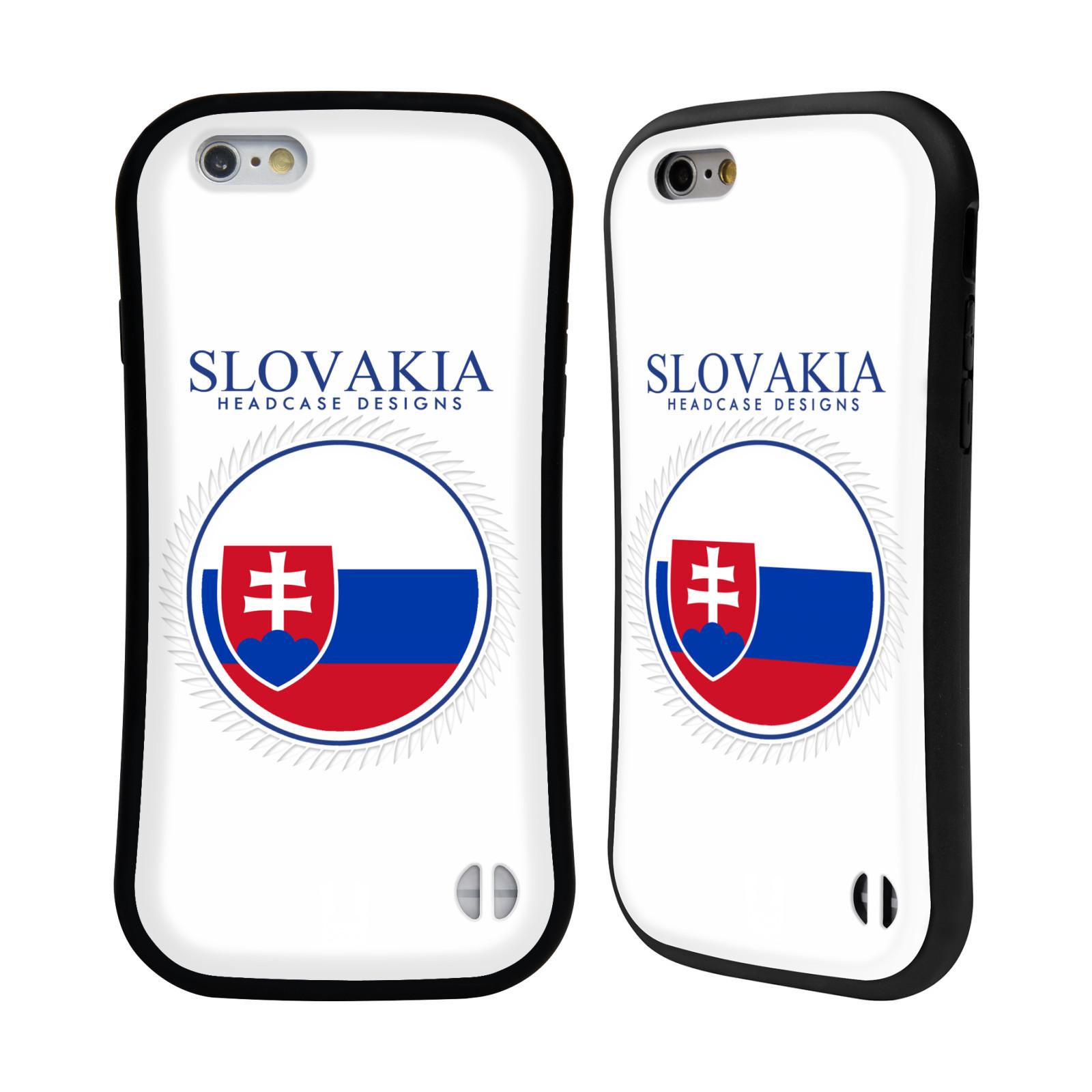 HEAD CASE silikon/plast odolný obal na mobil Apple Iphone 6/6S vzor Vlajky státy 2 SLOVENSKO