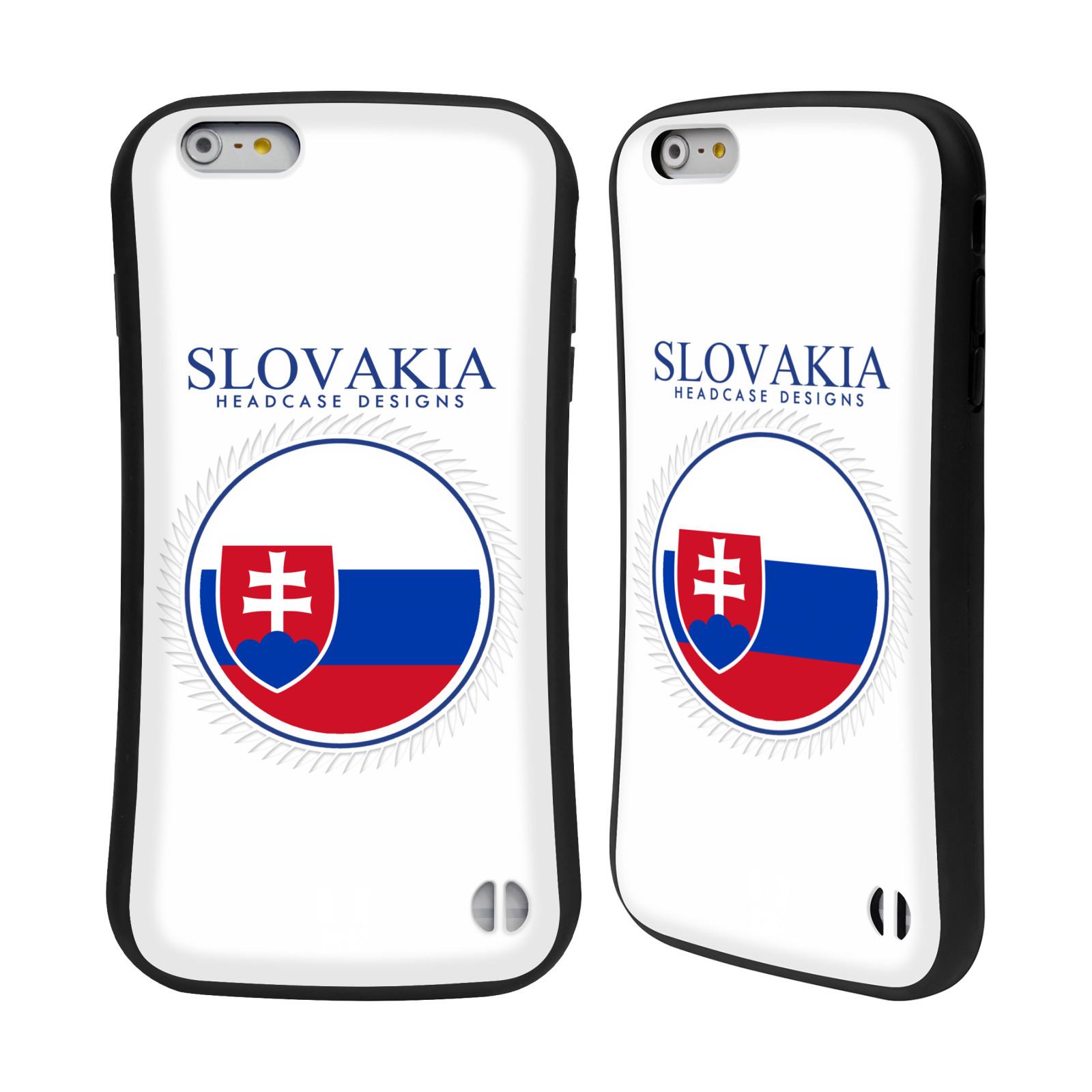 HEAD CASE silikon/plast odolný obal na mobil Apple Iphone 6 PLUS / 6S PLUS vzor Vlajky státy 2 SLOVENSKO