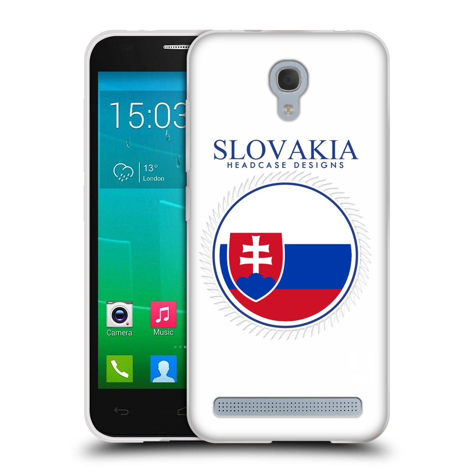 HEAD CASE silikonový obal na mobil Alcatel Idol 2 MINI S 6036Y vzor Vlajky státy 2 SLOVENSKO