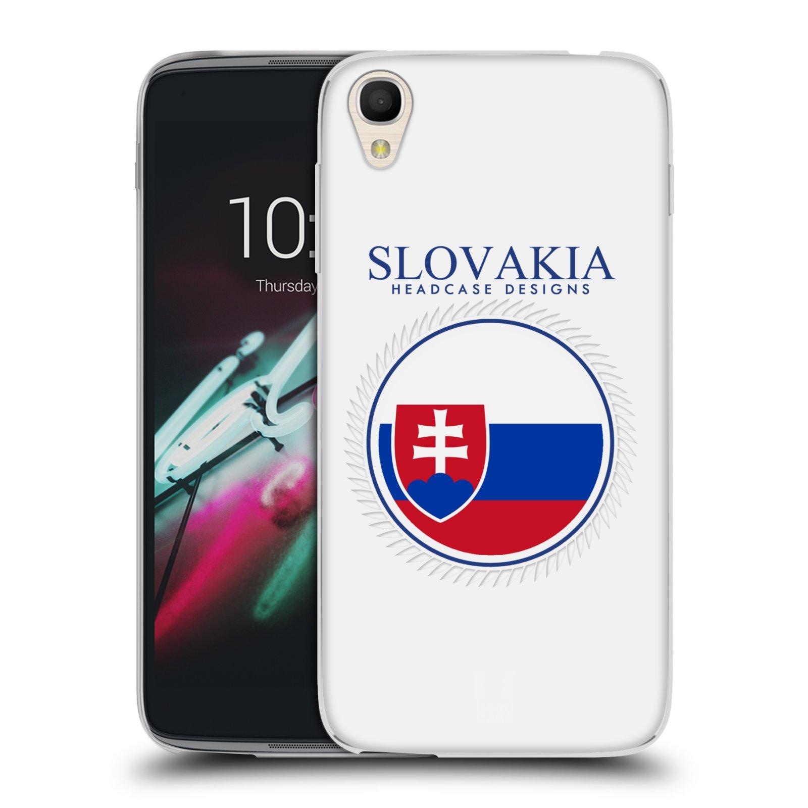 HEAD CASE silikonový obal na mobil Alcatel Idol 3 OT-6039Y (4.7) vzor Vlajky státy 2 SLOVENSKO