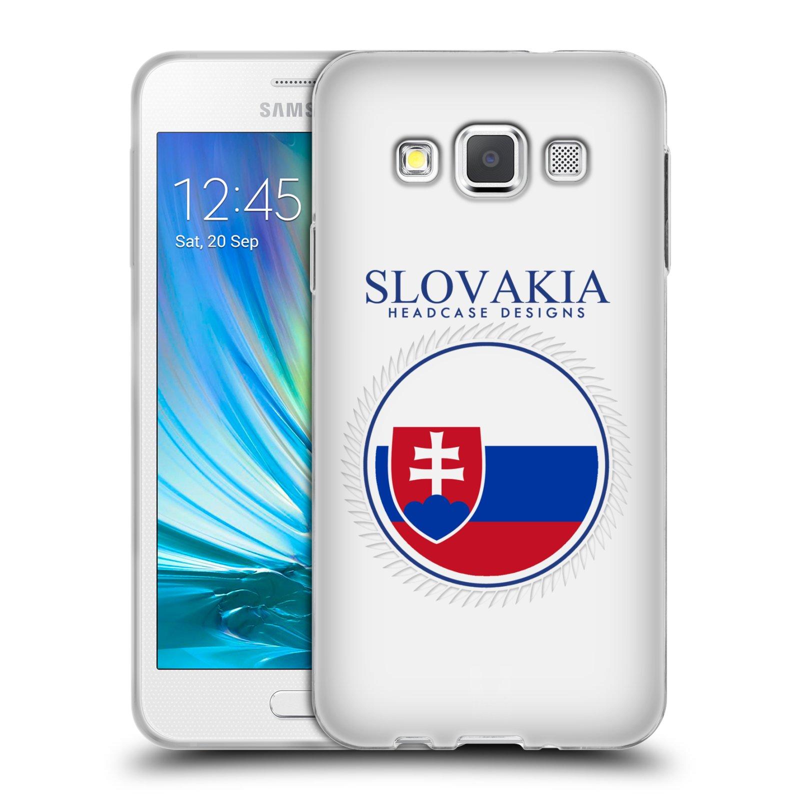 HEAD CASE silikonový obal na mobil Samsung Galaxy A3 vzor Vlajky státy 2 SLOVENSKO
