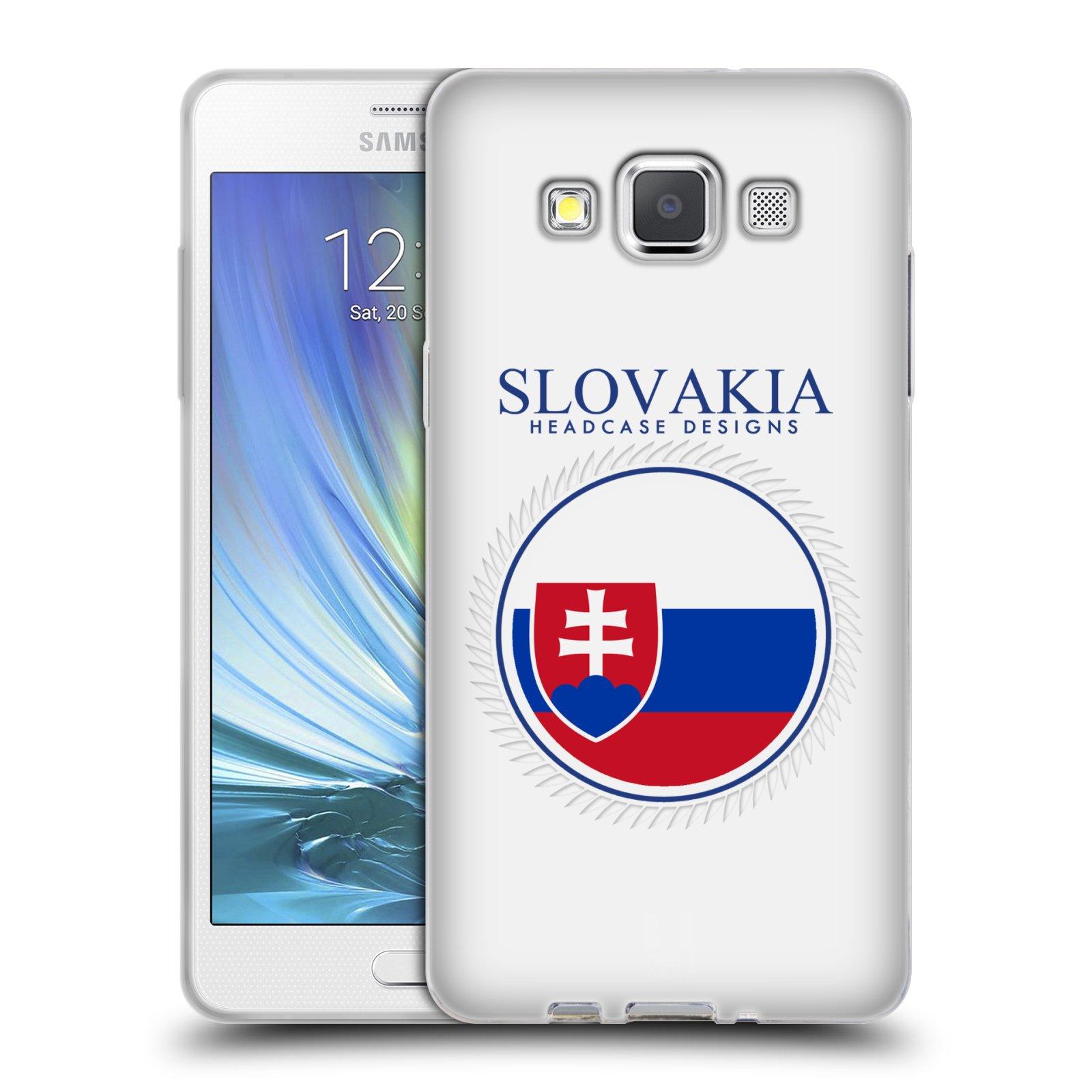 HEAD CASE silikonový obal na mobil Samsung Galaxy A5 vzor Vlajky státy 2 SLOVENSKO