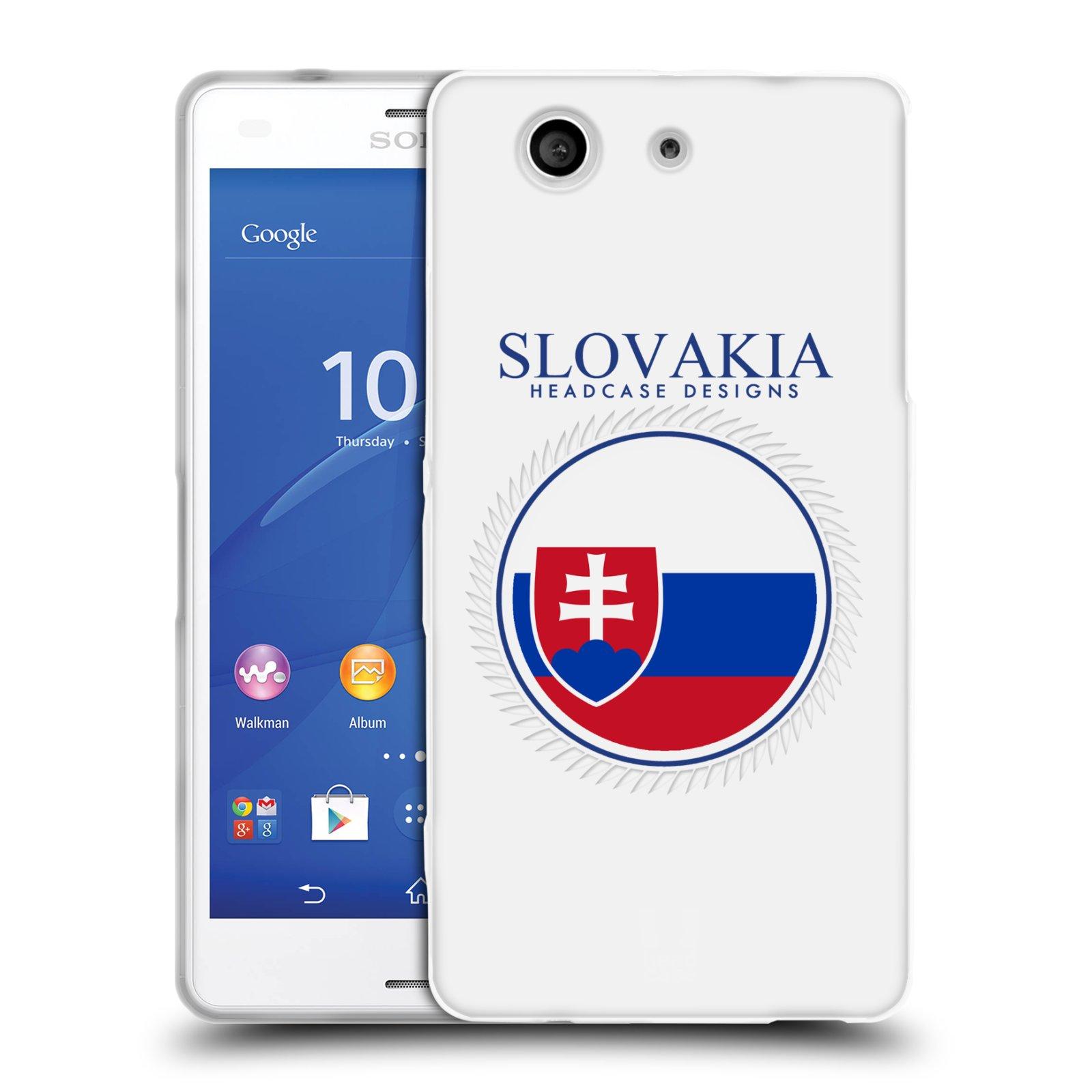 HEAD CASE silikonový obal na mobil Sony Xperia Z3 COMPACT (D5803) vzor Vlajky státy 2 SLOVENSKO