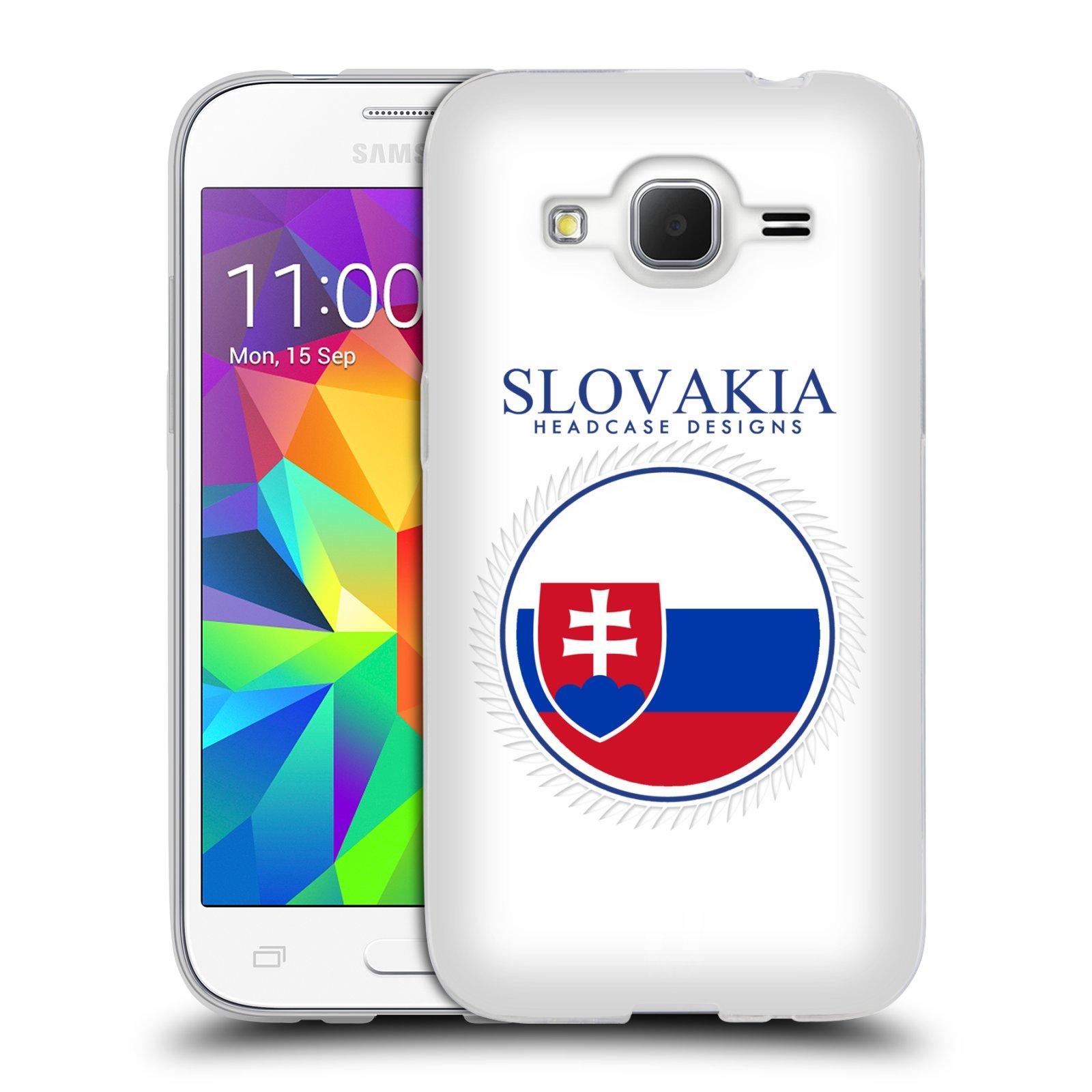 HEAD CASE silikonový obal na mobil Samsung Galaxy Core Prime VE (G361) vzor Vlajky státy 2 SLOVENSKO