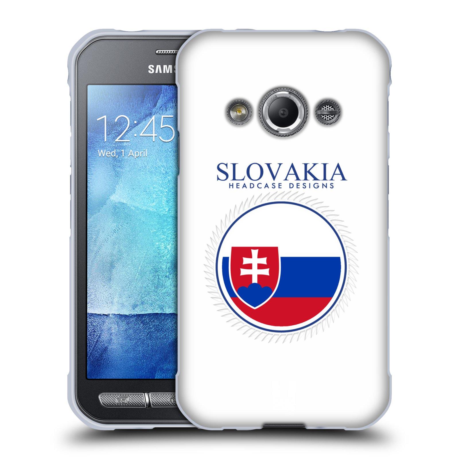 HEAD CASE silikonový obal na mobil Samsung Galaxy Xcover 3 vzor Vlajky státy 2 SLOVENSKO