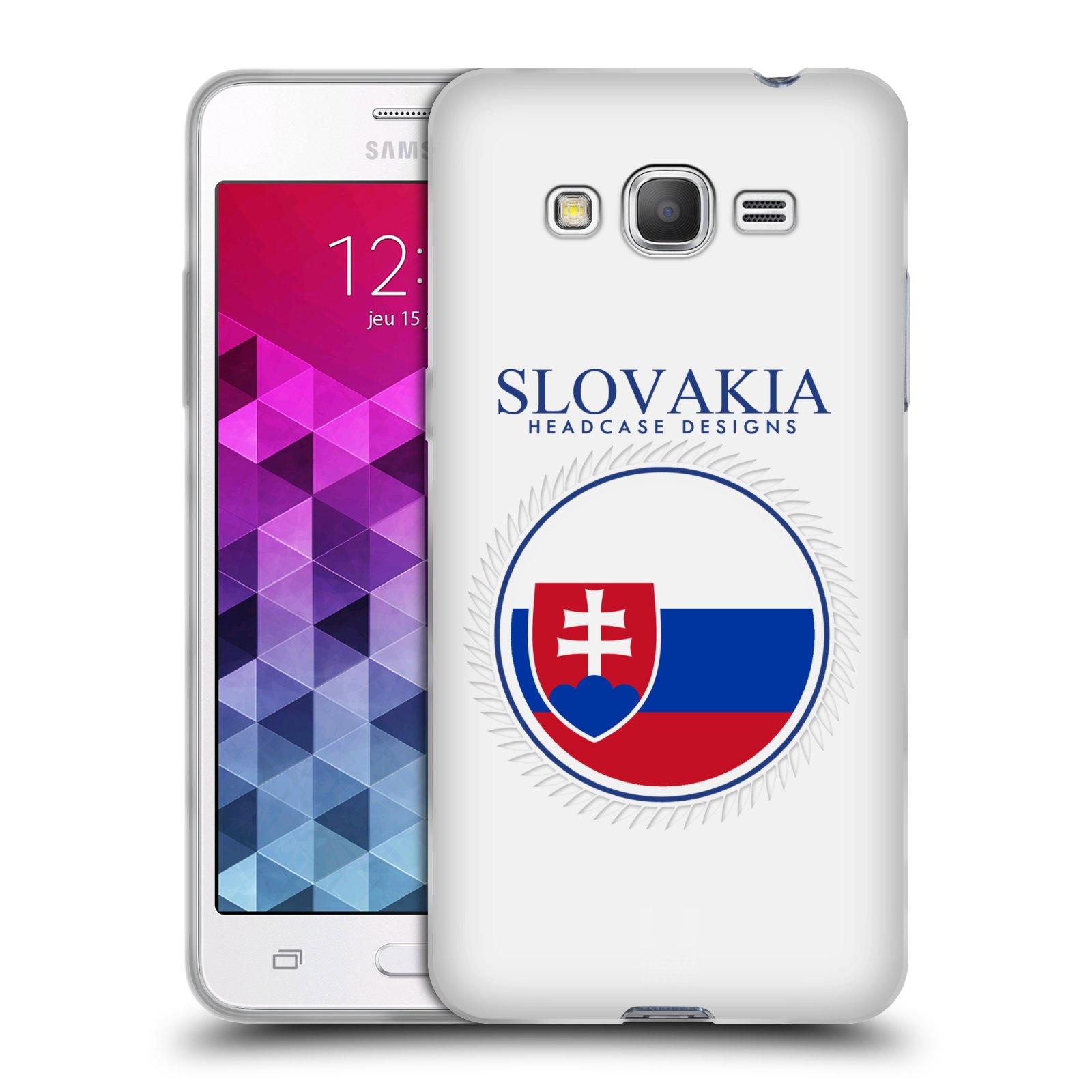 HEAD CASE silikonový obal na mobil Samsung Galaxy GRAND PRIME vzor Vlajky státy 2 SLOVENSKO