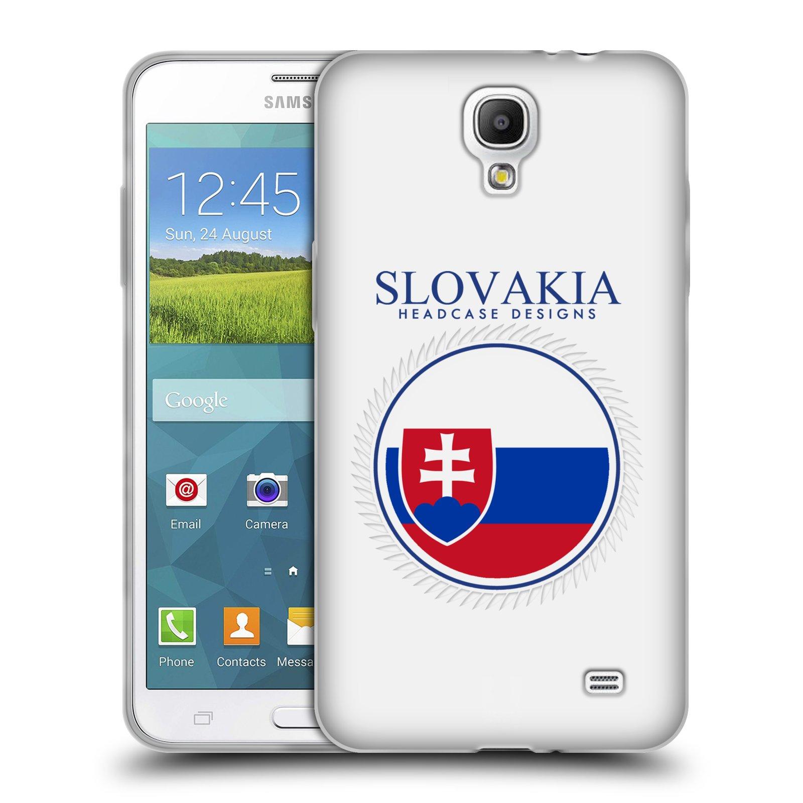 HEAD CASE silikonový obal na mobil Samsung Galaxy Mega 2 vzor Vlajky státy 2 SLOVENSKO