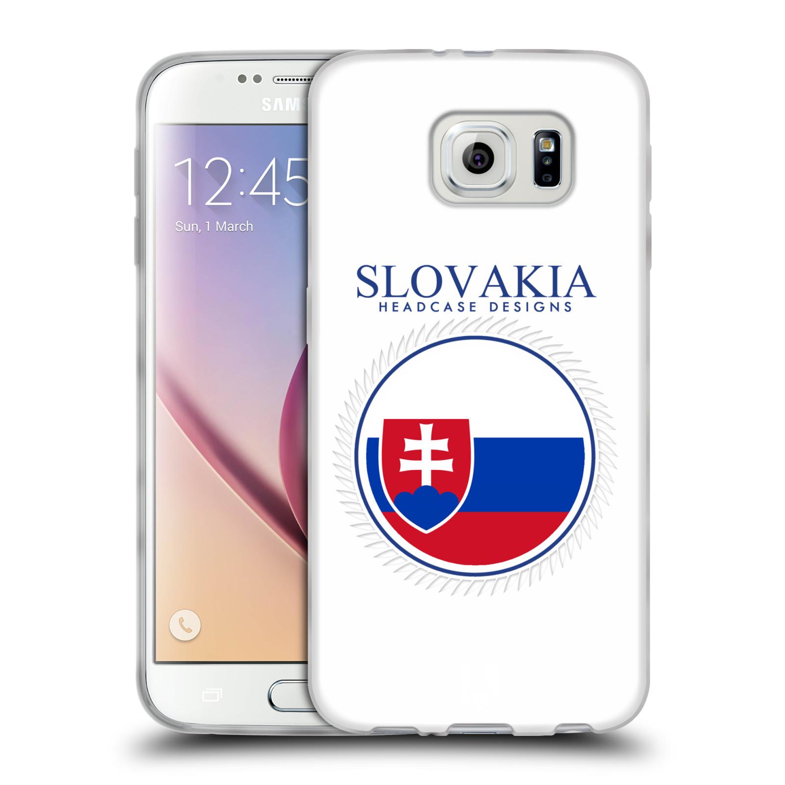 HEAD CASE silikonový obal na mobil Samsung Galaxy S6 vzor Vlajky státy 2 SLOVENSKO