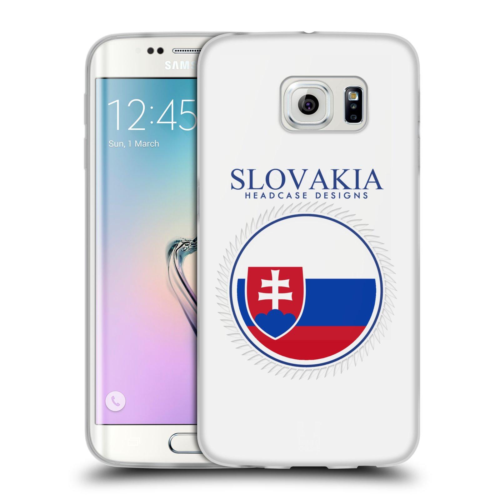 HEAD CASE silikonový obal na mobil Samsung Galaxy S6 EDGE vzor Vlajky státy 2 SLOVENSKO