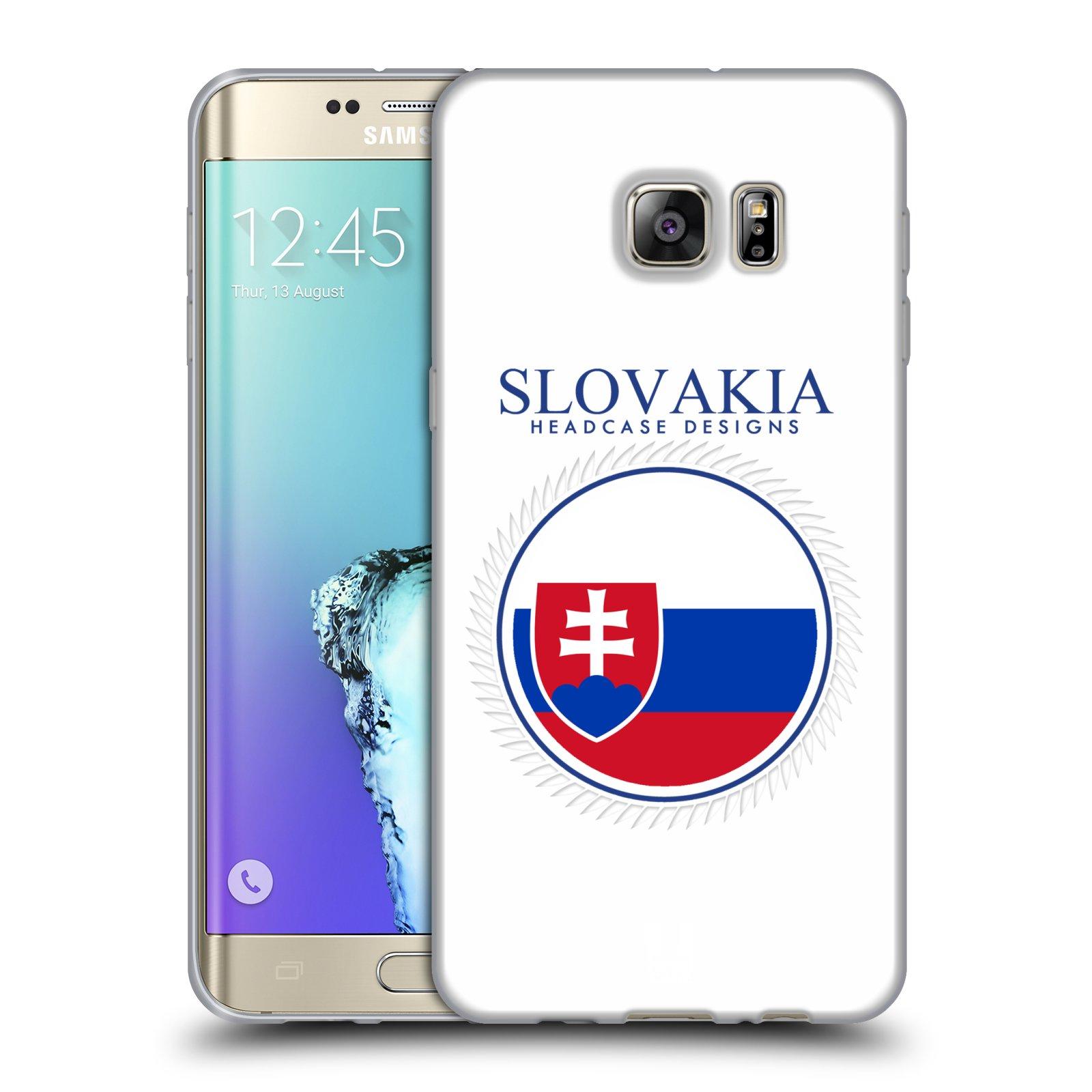 HEAD CASE silikonový obal na mobil Samsung Galaxy S6 EDGE PLUS vzor Vlajky státy 2 SLOVENSKO