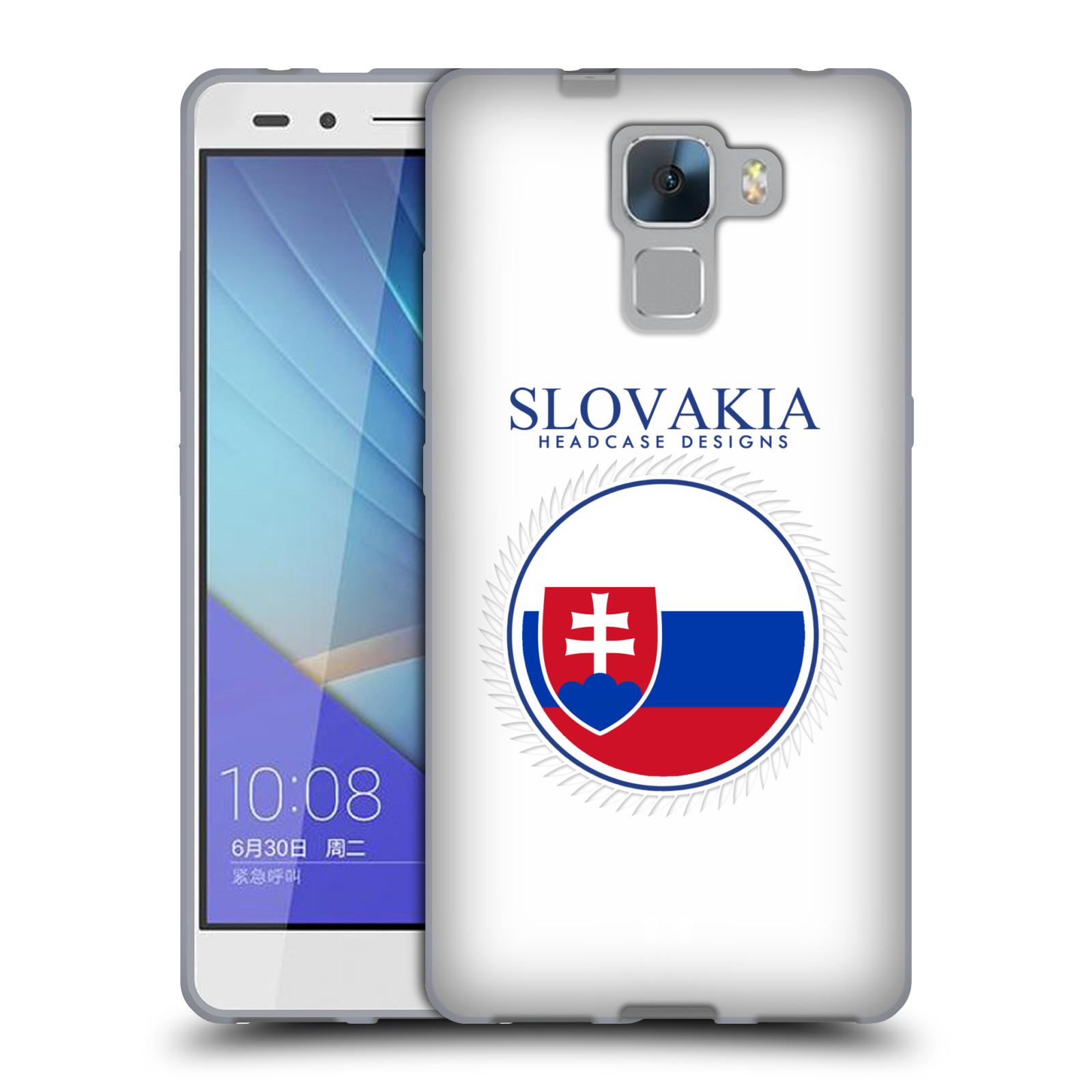 HEAD CASE silikonový obal na mobil HUAWEI HONOR 7 vzor Vlajky státy 2 SLOVENSKO