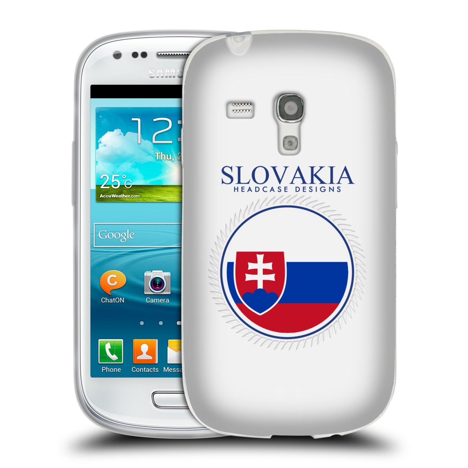 HEAD CASE silikonový obal na mobil Samsung Galaxy S3 MINI i8190 vzor Vlajky státy 2 SLOVENSKO