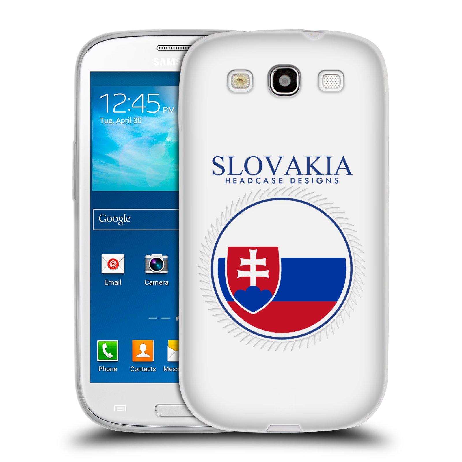 HEAD CASE silikonový obal na mobil Samsung Galaxy S3 i9300 vzor Vlajky státy 2 SLOVENSKO