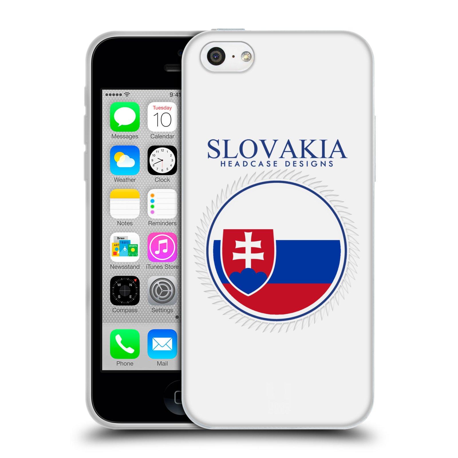 HEAD CASE silikonový obal na mobil Apple Iphone 5C vzor Vlajky státy 2 SLOVENSKO