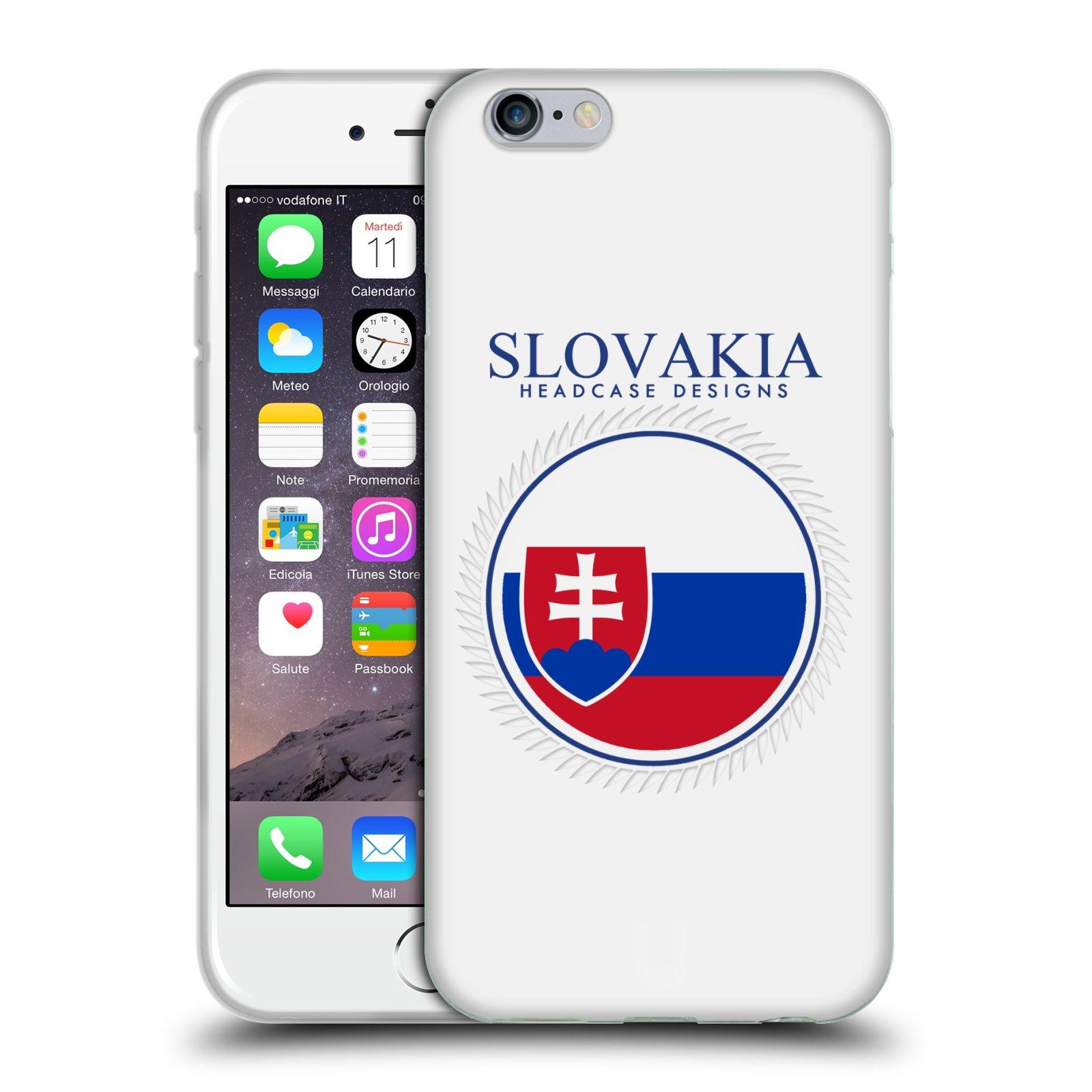 HEAD CASE silikonový obal na mobil Apple Iphone 6/6S vzor Vlajky státy 2 SLOVENSKO