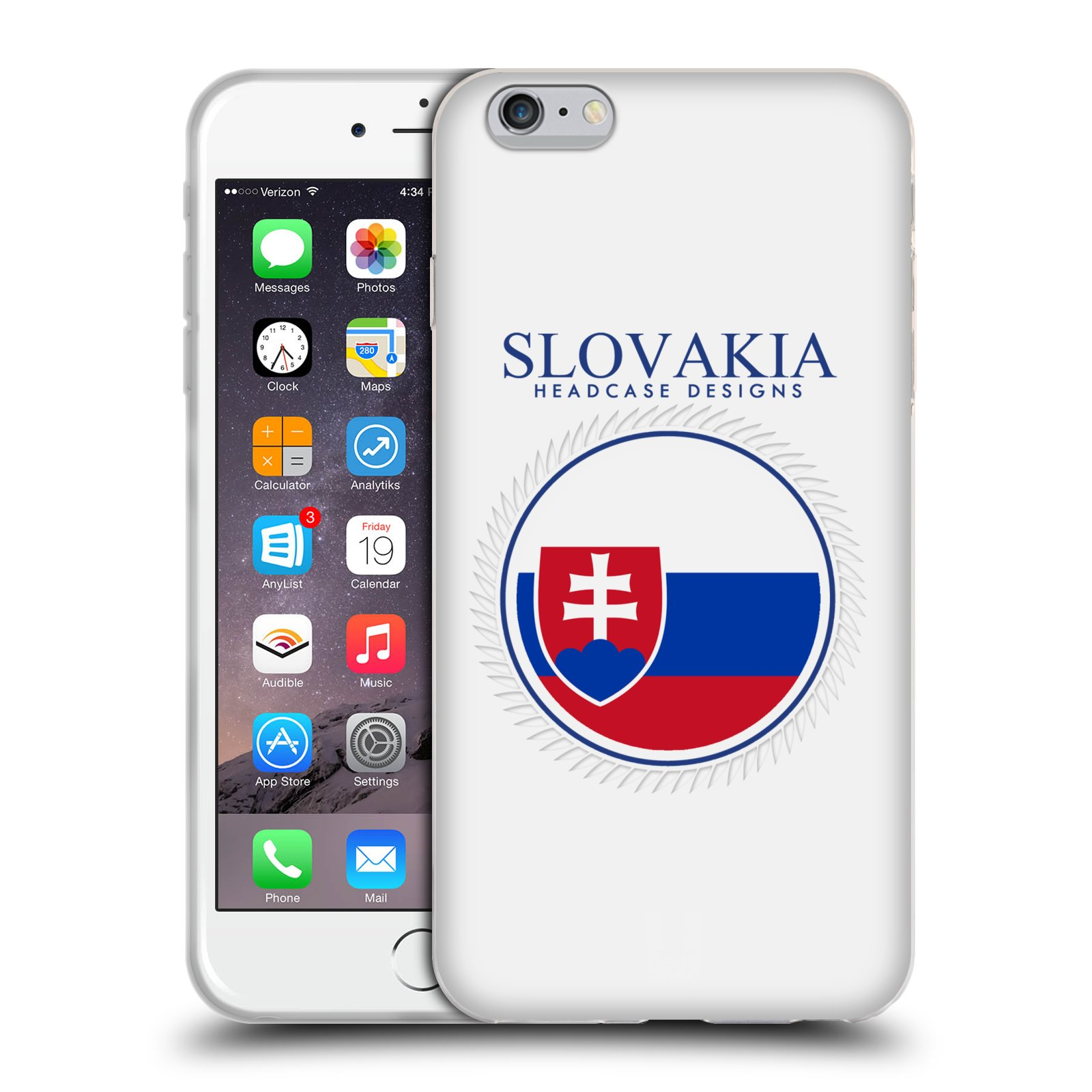 HEAD CASE silikonový obal na mobil Apple Iphone 6 PLUS/ 6S PLUS vzor Vlajky státy 2 SLOVENSKO