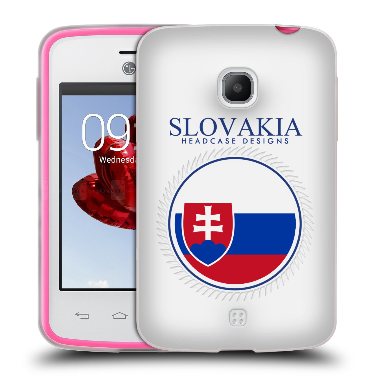 HEAD CASE silikonový obal na mobil LG L30 vzor Vlajky státy 2 SLOVENSKO