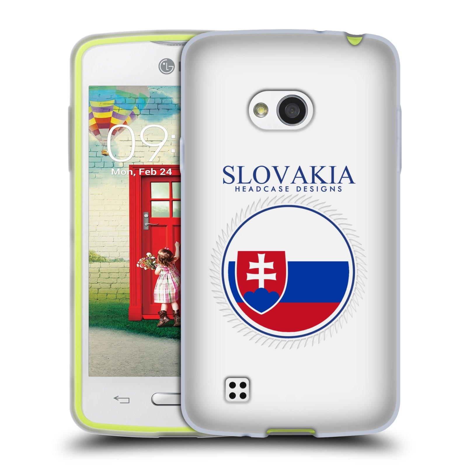 HEAD CASE silikonový obal na mobil LG L50 vzor Vlajky státy 2 SLOVENSKO