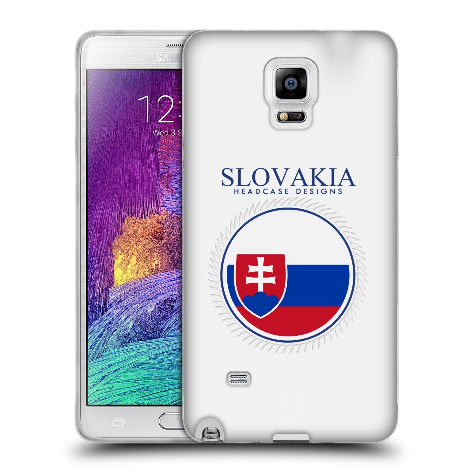 HEAD CASE silikonový obal na mobil Samsung Galaxy Note 4 (N910) vzor Vlajky státy 2 SLOVENSKO