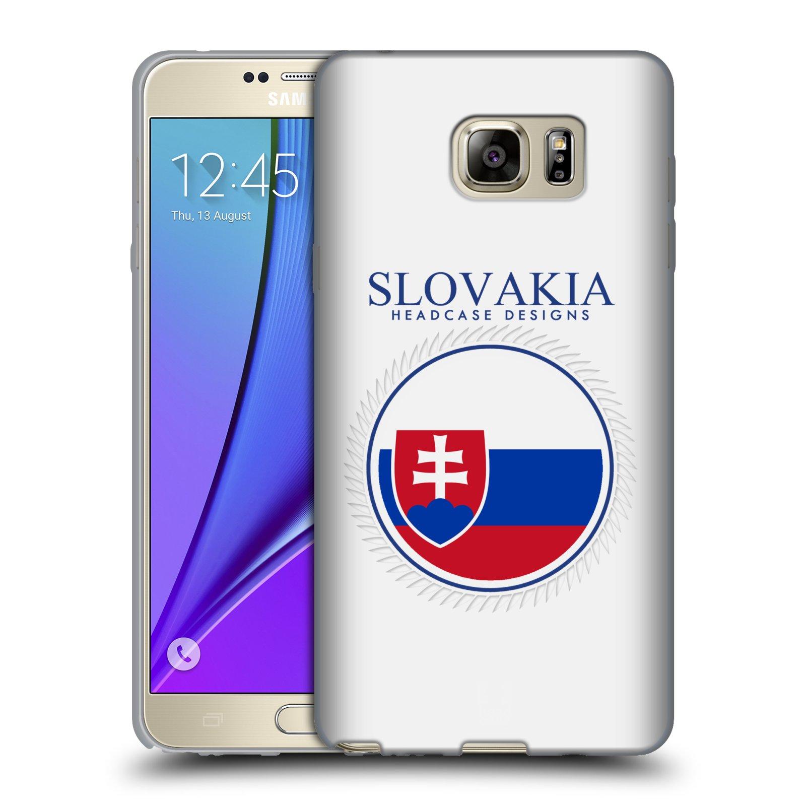 HEAD CASE silikonový obal na mobil Samsung Galaxy Note 5 (N920) vzor Vlajky státy 2 SLOVENSKO