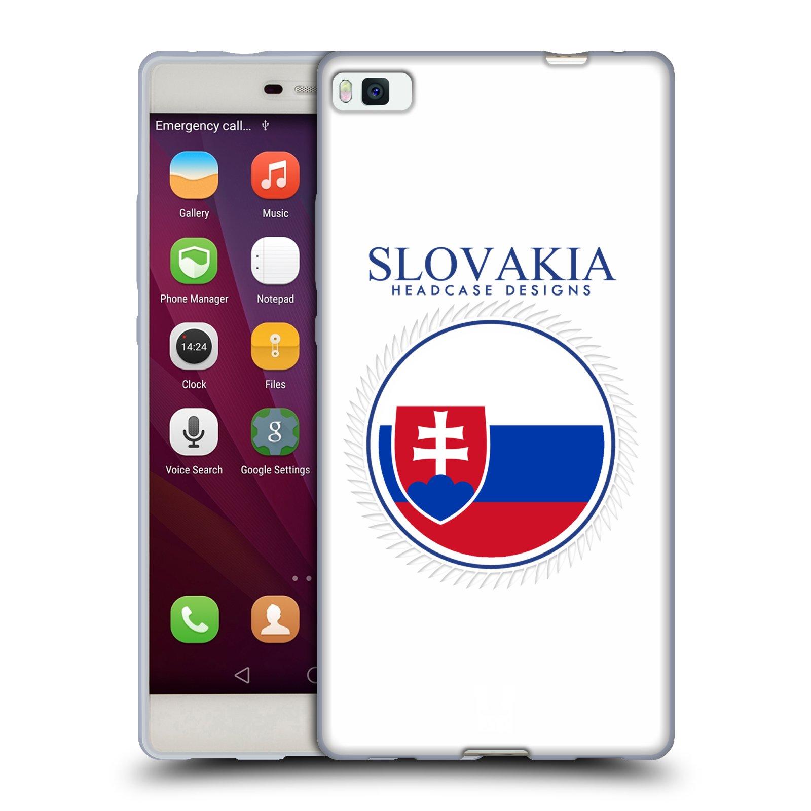 HEAD CASE silikonový obal na mobil HUAWEI P8 vzor Vlajky státy 2 SLOVENSKO