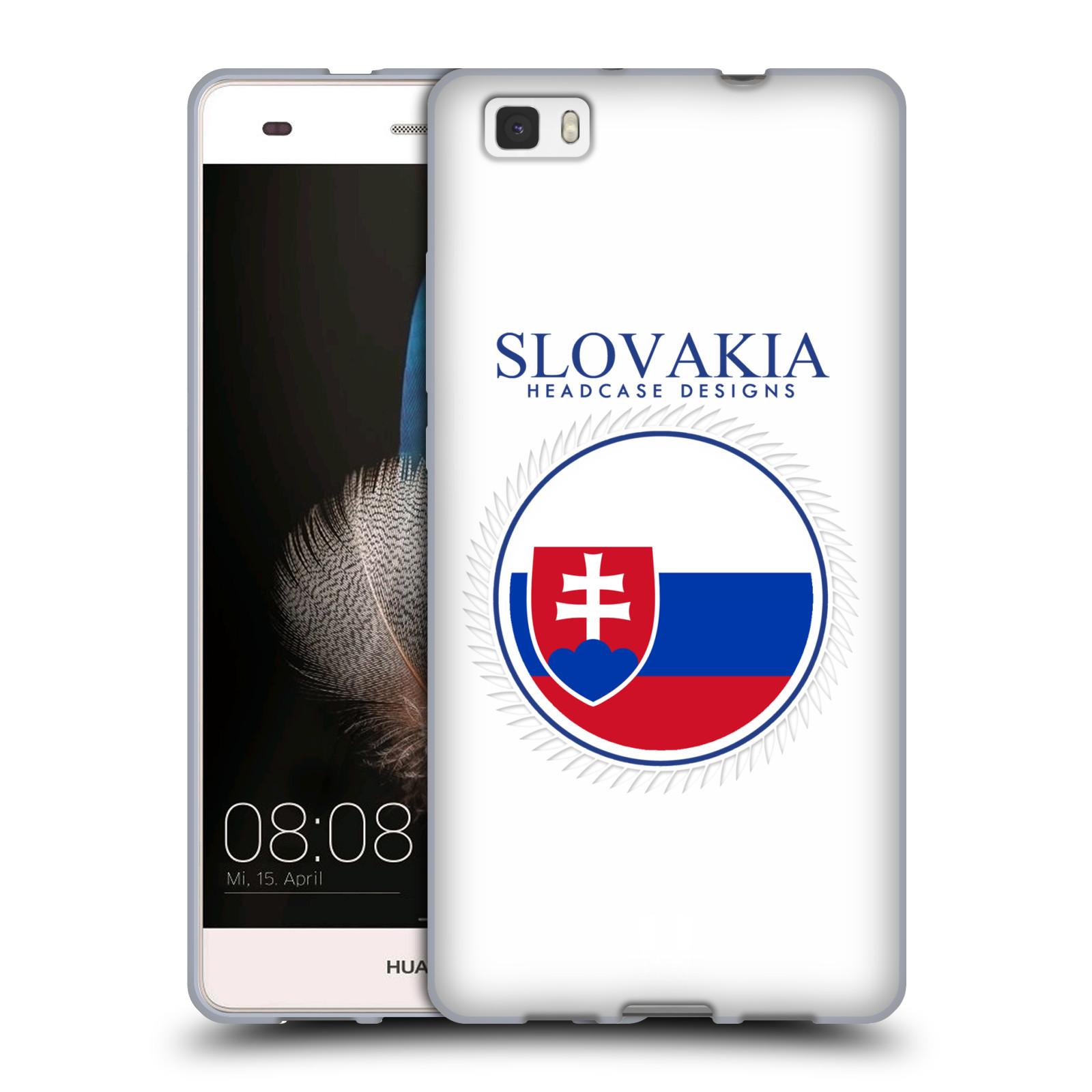 HEAD CASE silikonový obal na mobil HUAWEI P8 LITE vzor Vlajky státy 2 SLOVENSKO