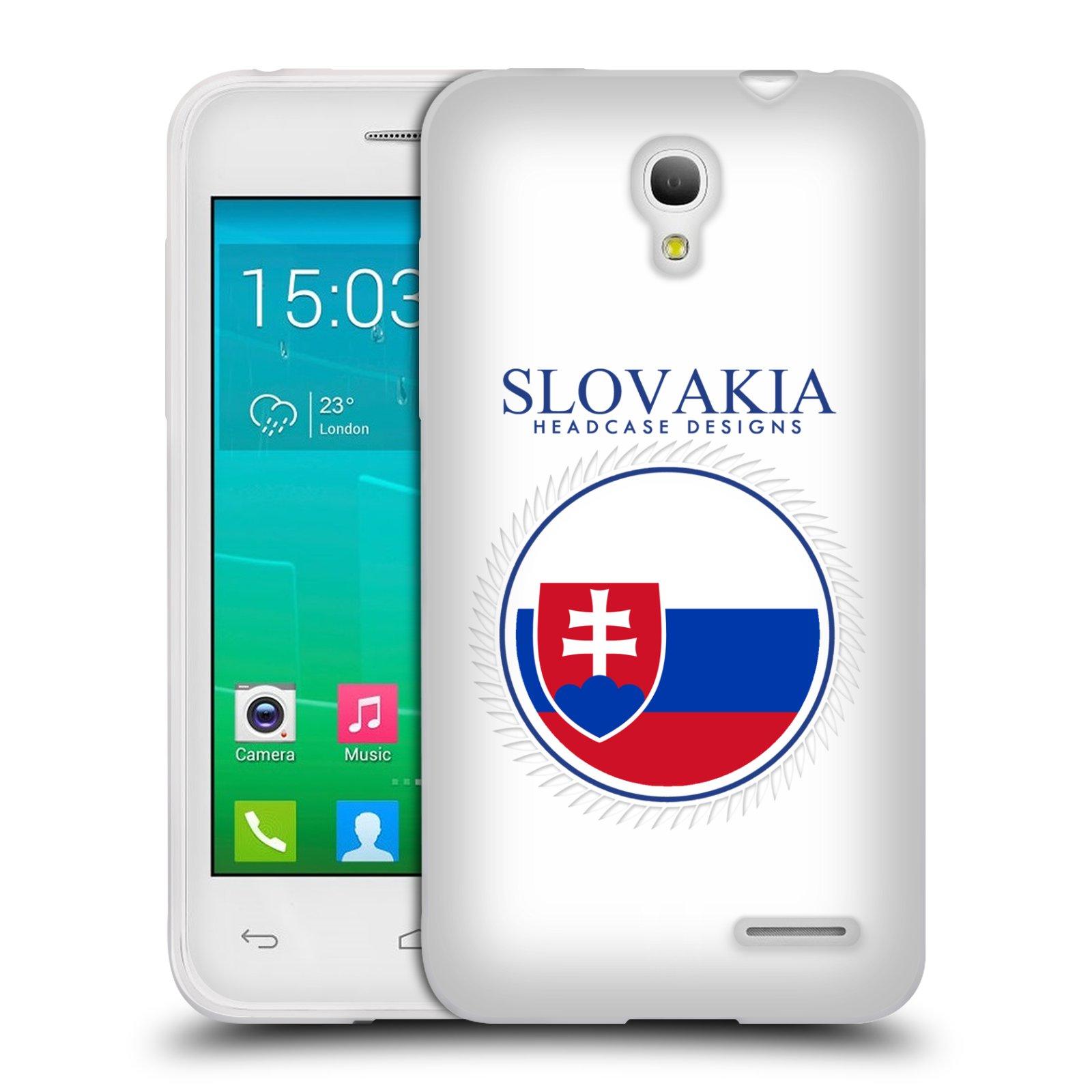 HEAD CASE silikonový obal na mobil Alcatel POP S3 OT-5050Y vzor Vlajky státy 2 SLOVENSKO