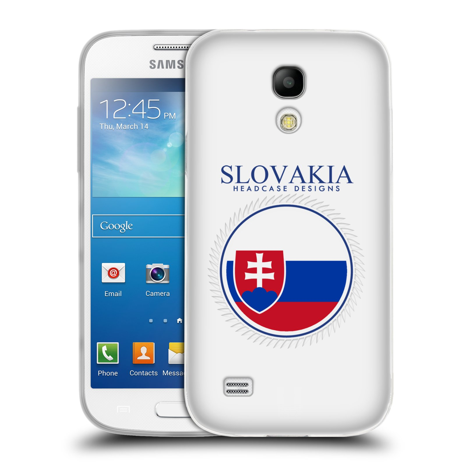 HEAD CASE silikonový obal na mobil Samsung Galaxy S4 MINI vzor Vlajky státy 2 SLOVENSKO